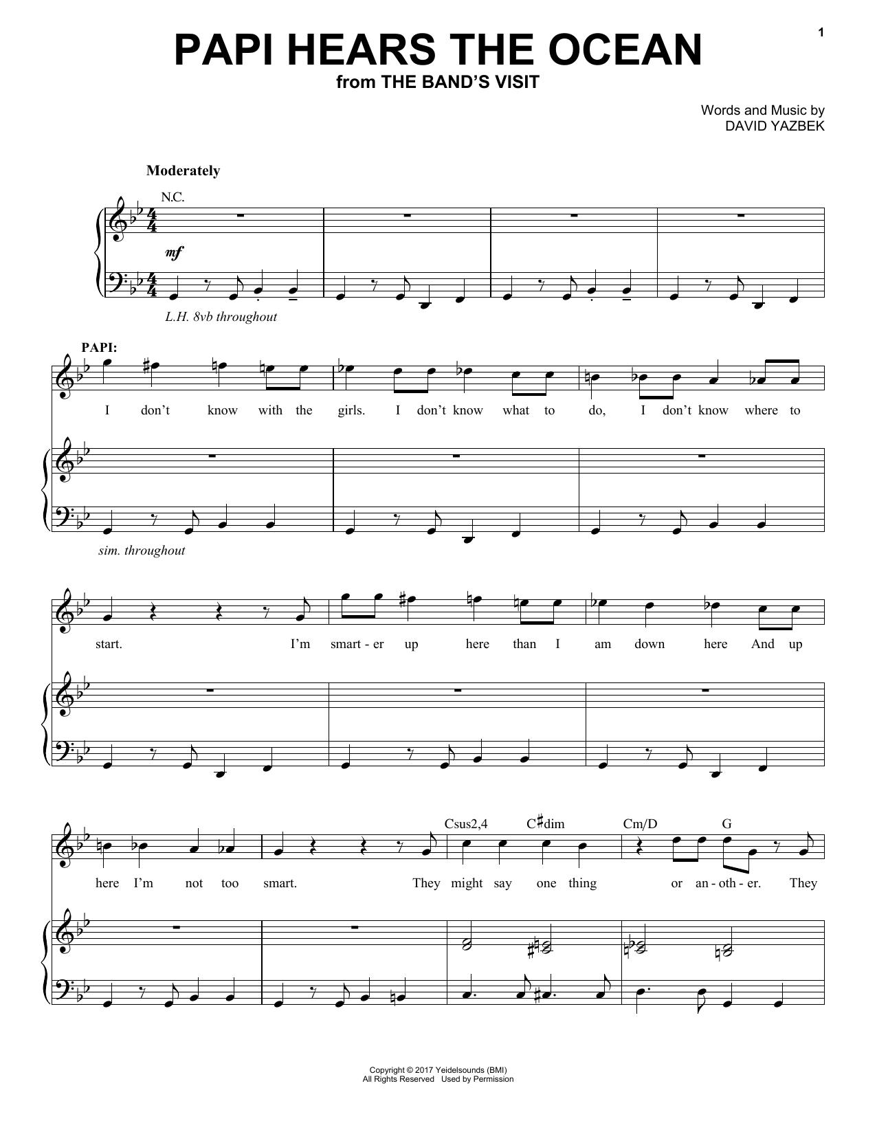 Papi Hears The Ocean (Piano & Vocal)