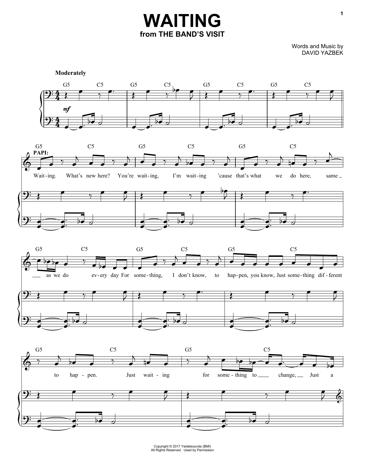 Waiting (Piano & Vocal)