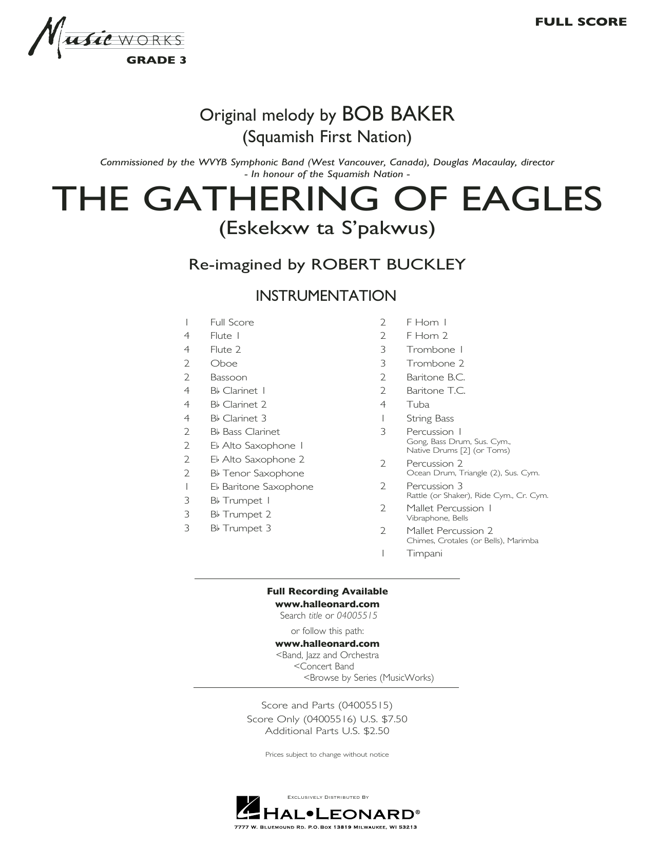 The Gathering of Eagles - Conductor Score (Full Score) (Concert Band)