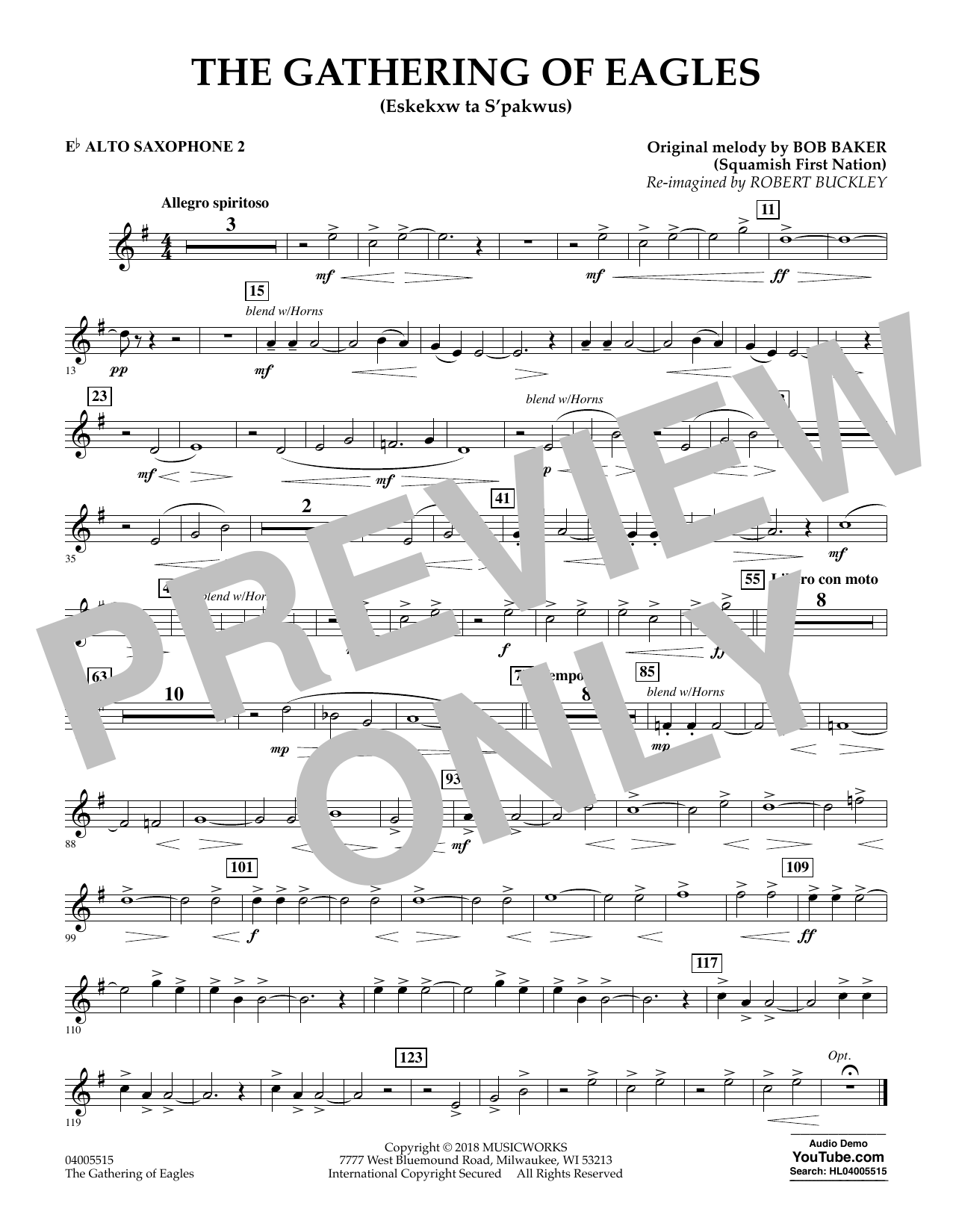 The Gathering of Eagles - Eb Alto Saxophone 2 (Concert Band)