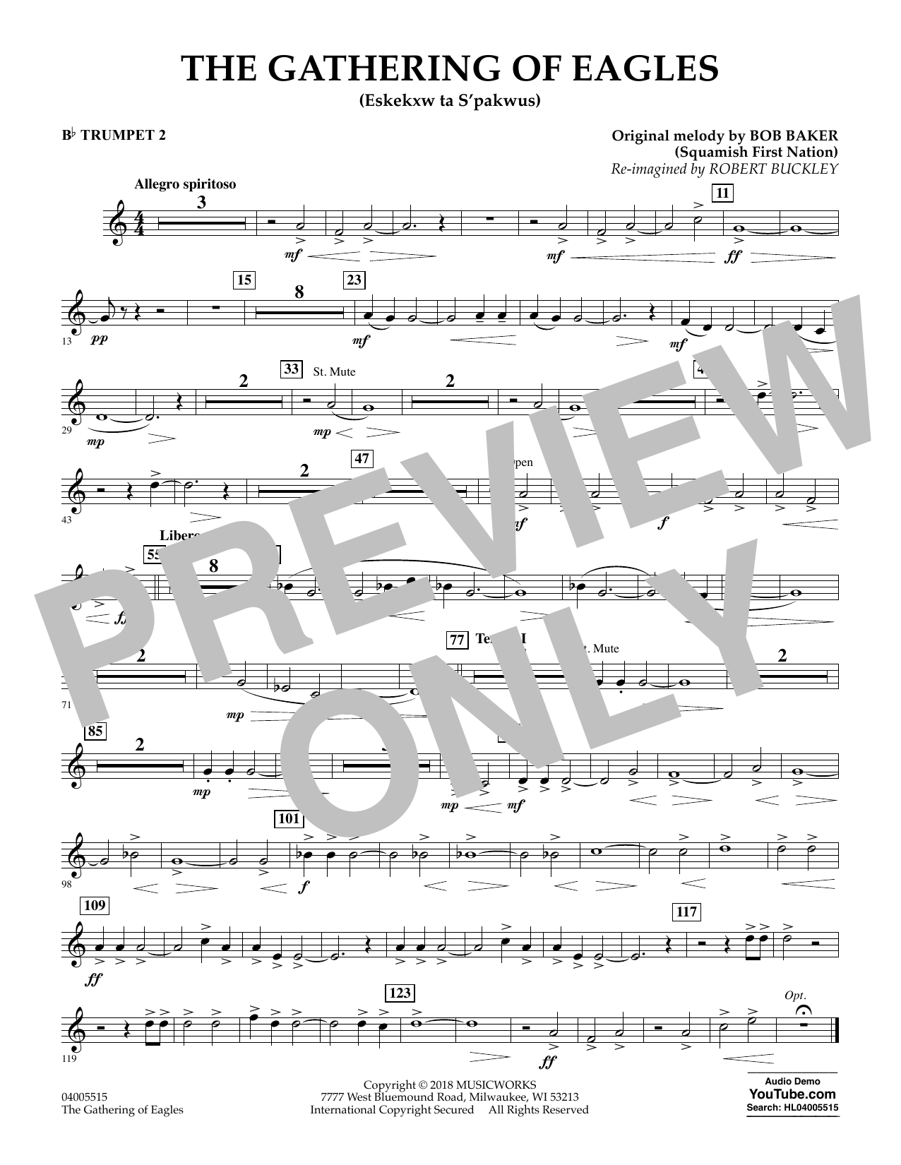 The Gathering of Eagles - Bb Trumpet 2 (Concert Band)