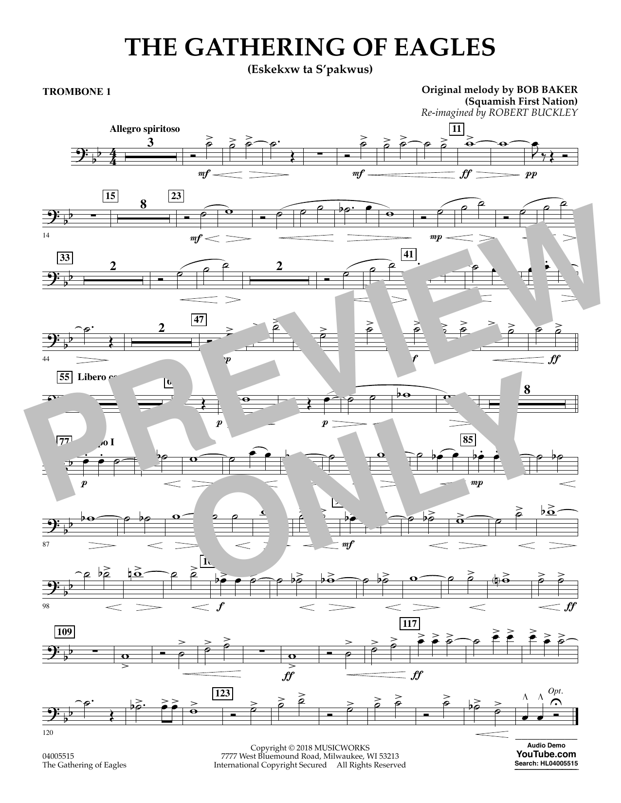 The Gathering of Eagles - Trombone 1 (Concert Band)