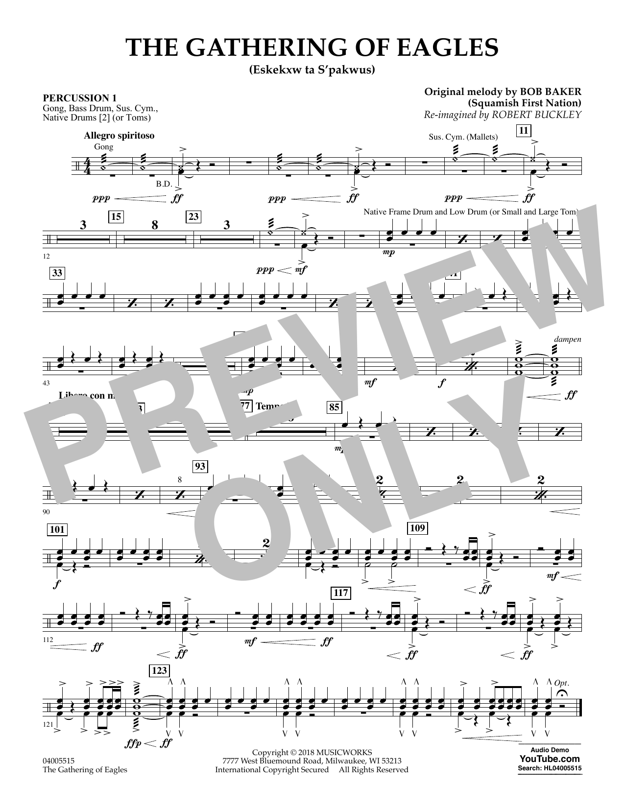 The Gathering of Eagles - Percussion 1 (Concert Band)