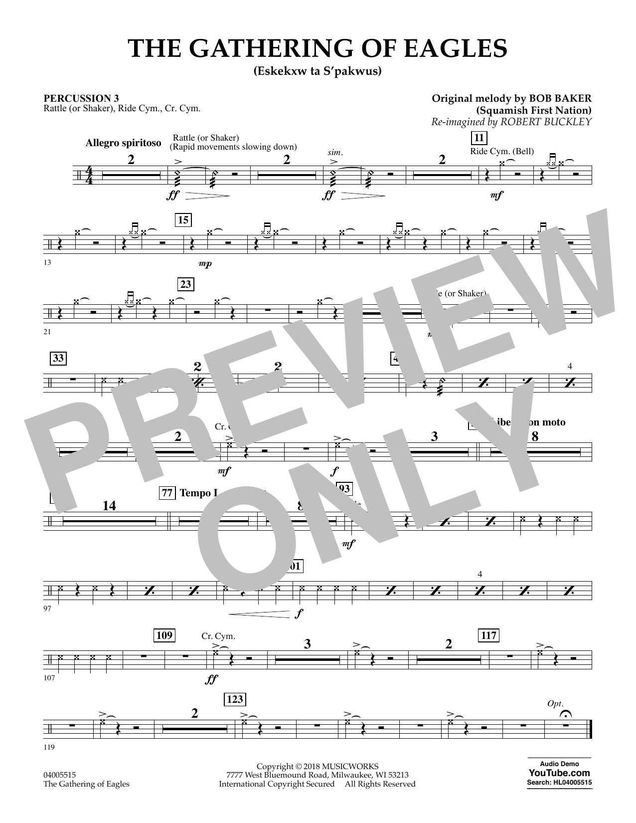 The Gathering of Eagles - Percussion 3 (Concert Band)