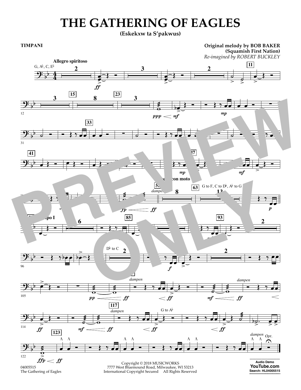 The Gathering of Eagles - Timpani (Concert Band)