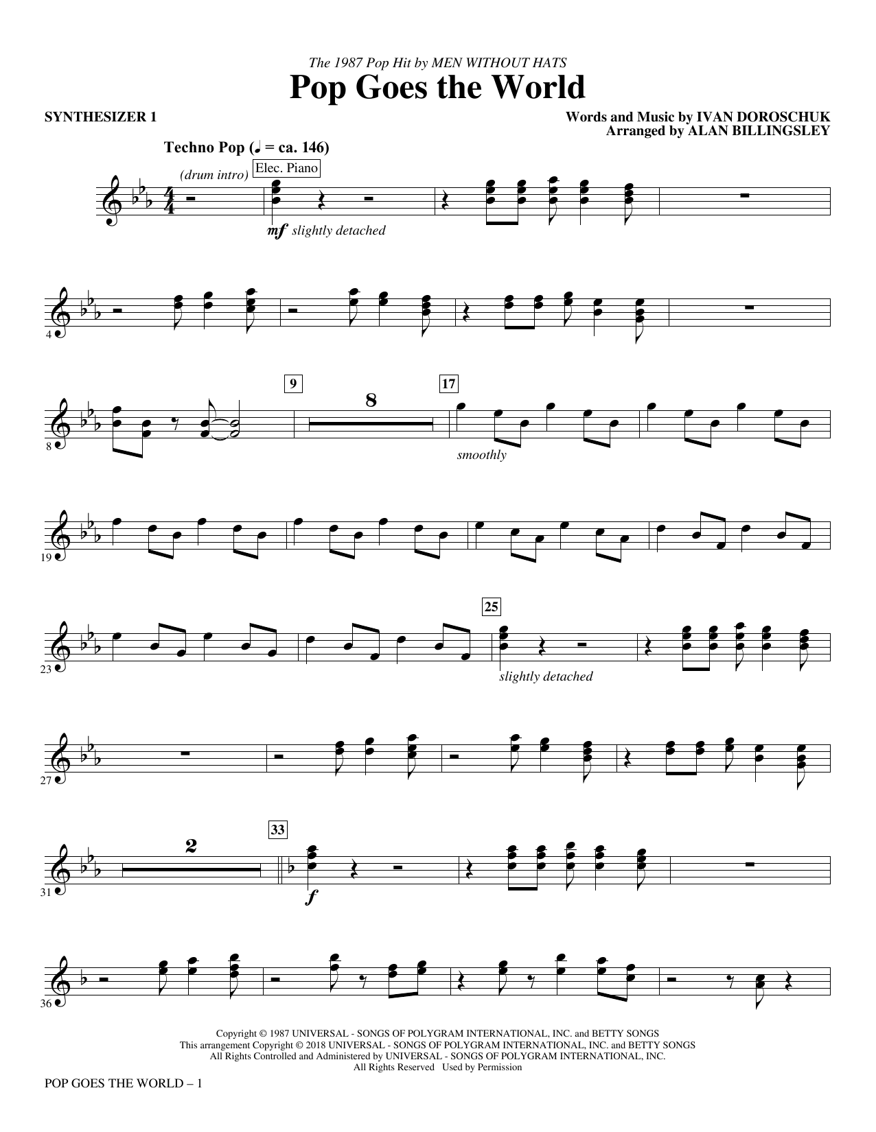 Pop Goes the World - Synthesizer I (Choir Instrumental Pak)