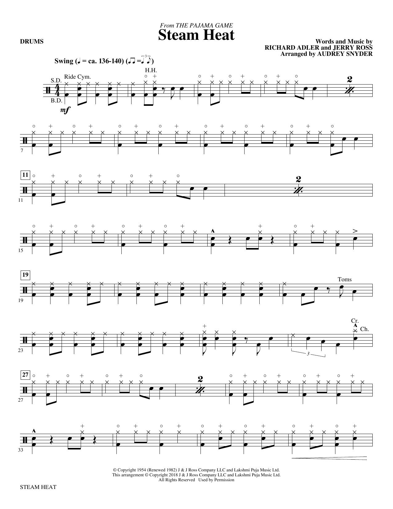 Steam Heat - Drums (Choir Instrumental Pak)