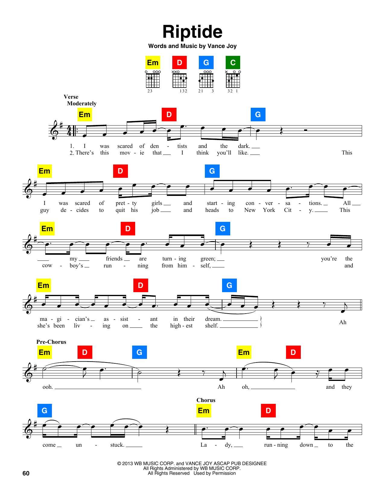 Riptide (ChordBuddy) - Print Sheet Music Now