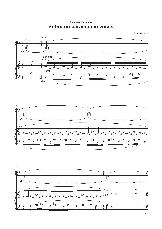 Sobre Un Paramo Sin Voces Sheet Music