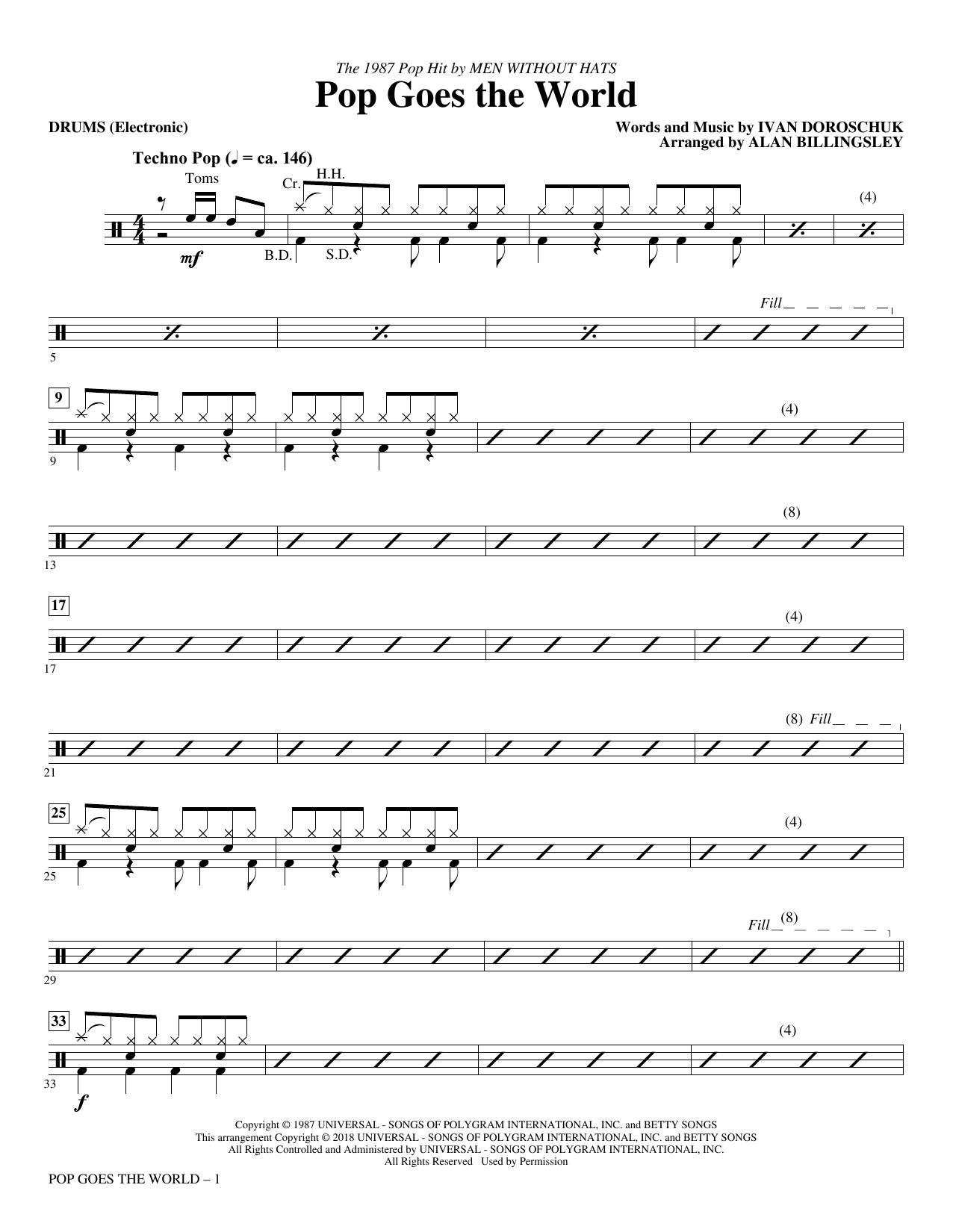 Pop Goes the World - Drums (Choir Instrumental Pak)