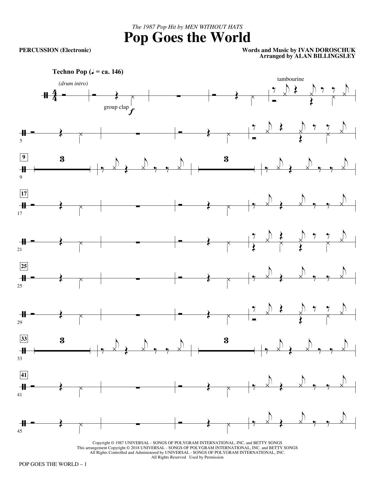 Pop Goes the World - Percussion (Choir Instrumental Pak)