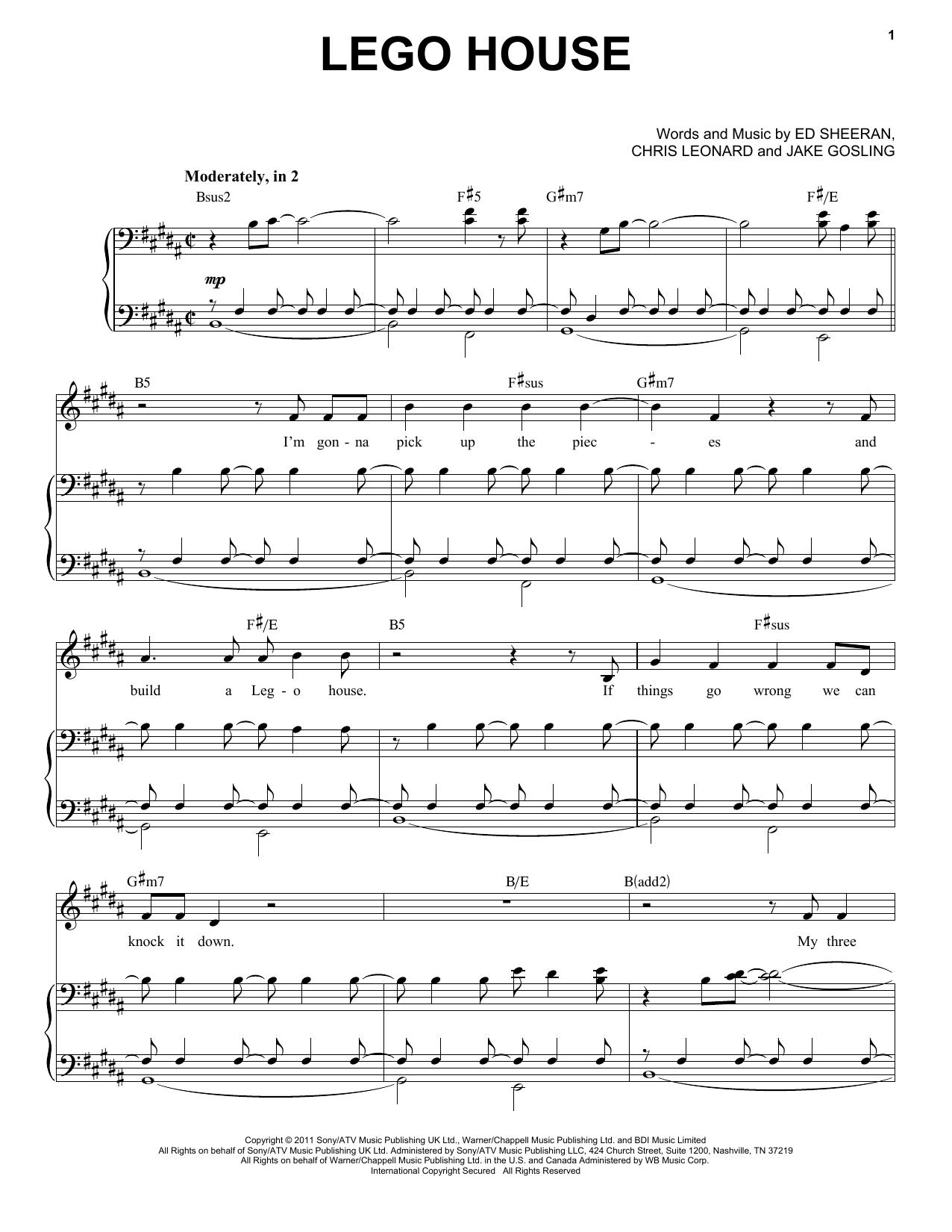 Lego House (Piano & Vocal)