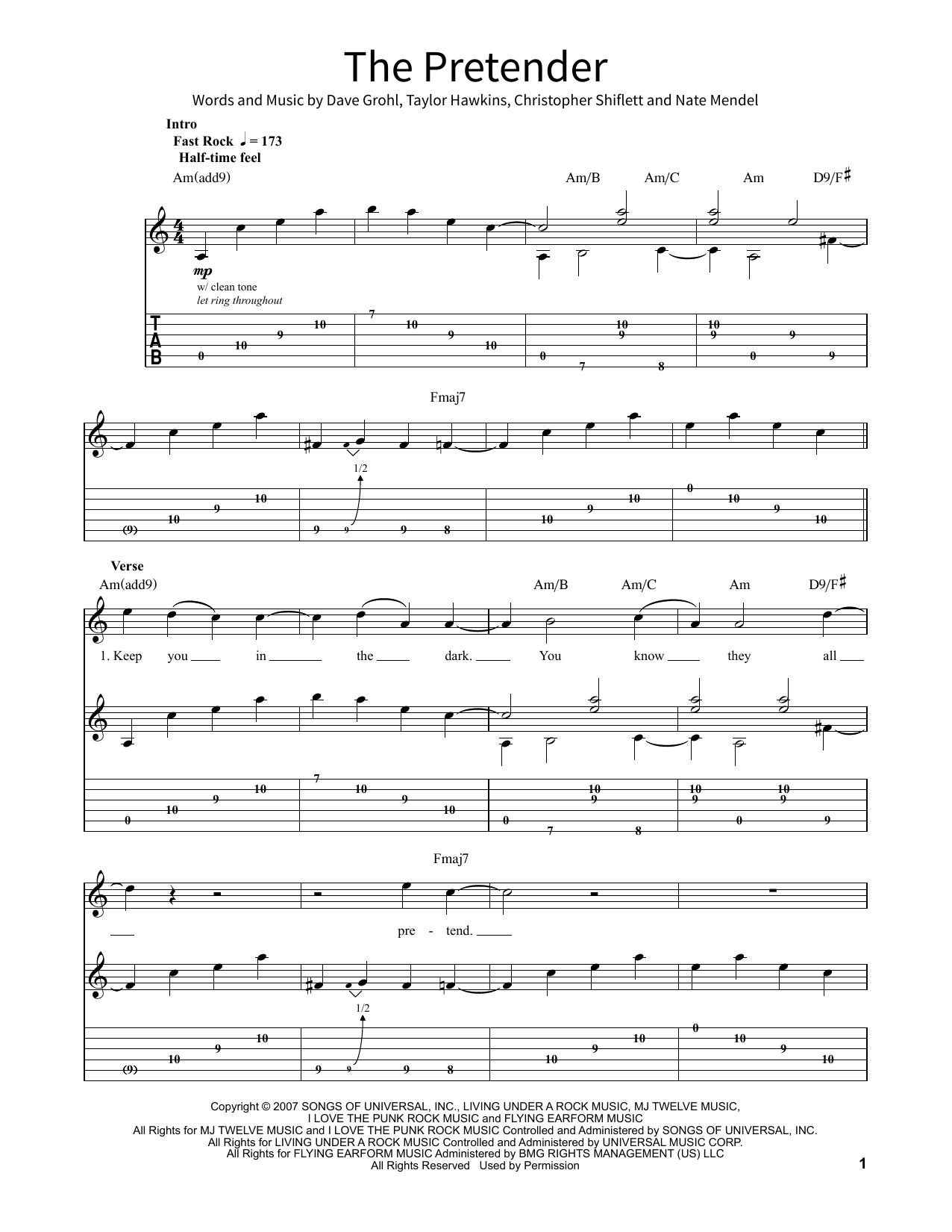 The Pretender (School of Rock – Guitar Tab)