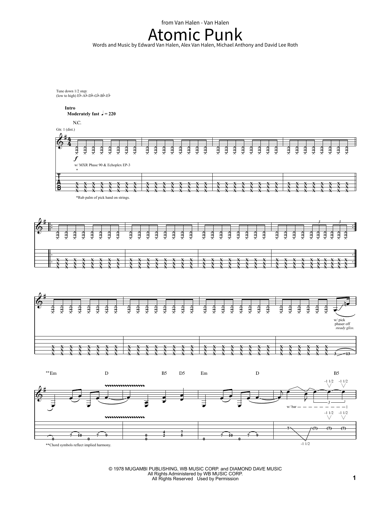 Atomic Punk (School of Rock - Guitar Tab)