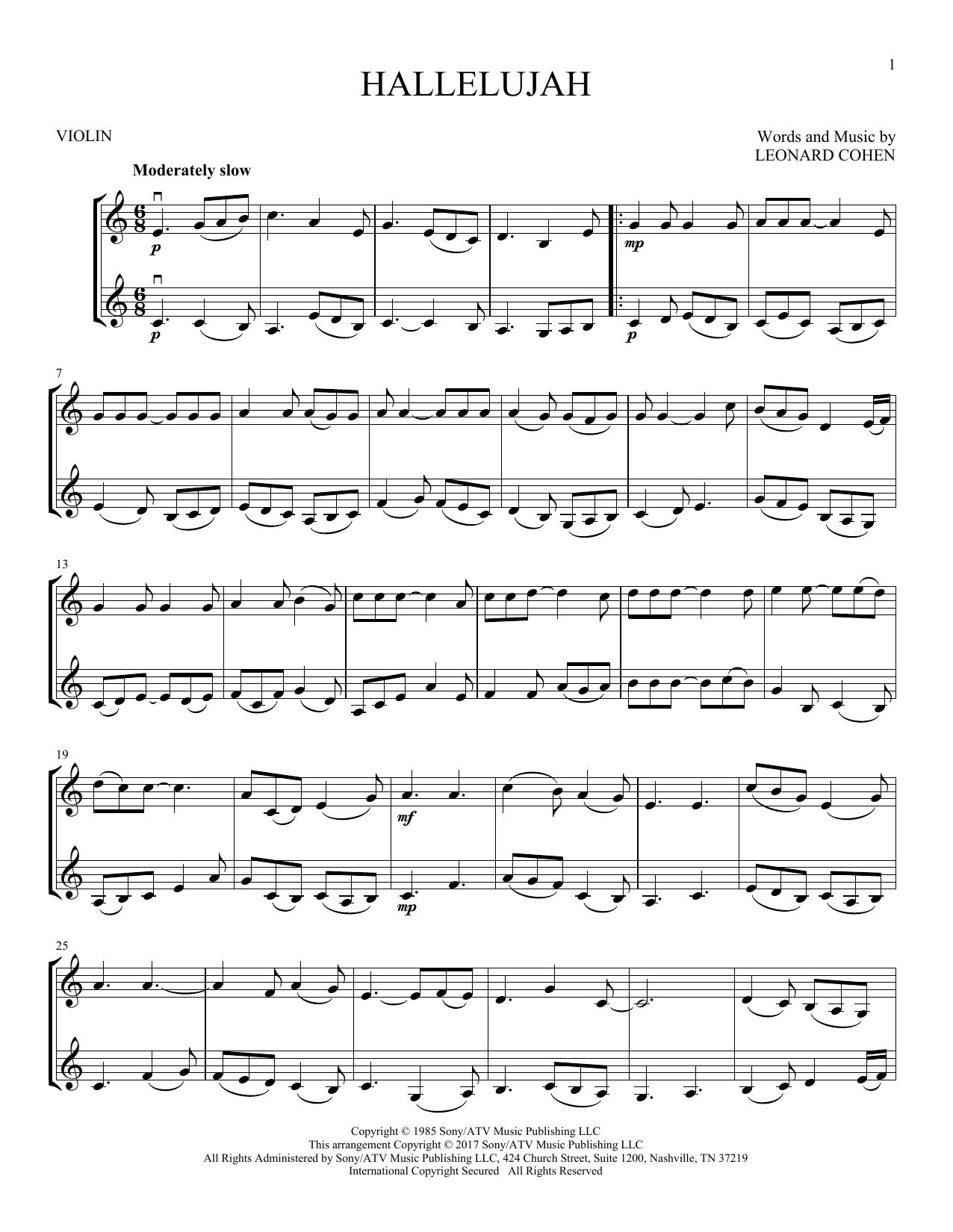 Hallelujah (Violin Duet)
