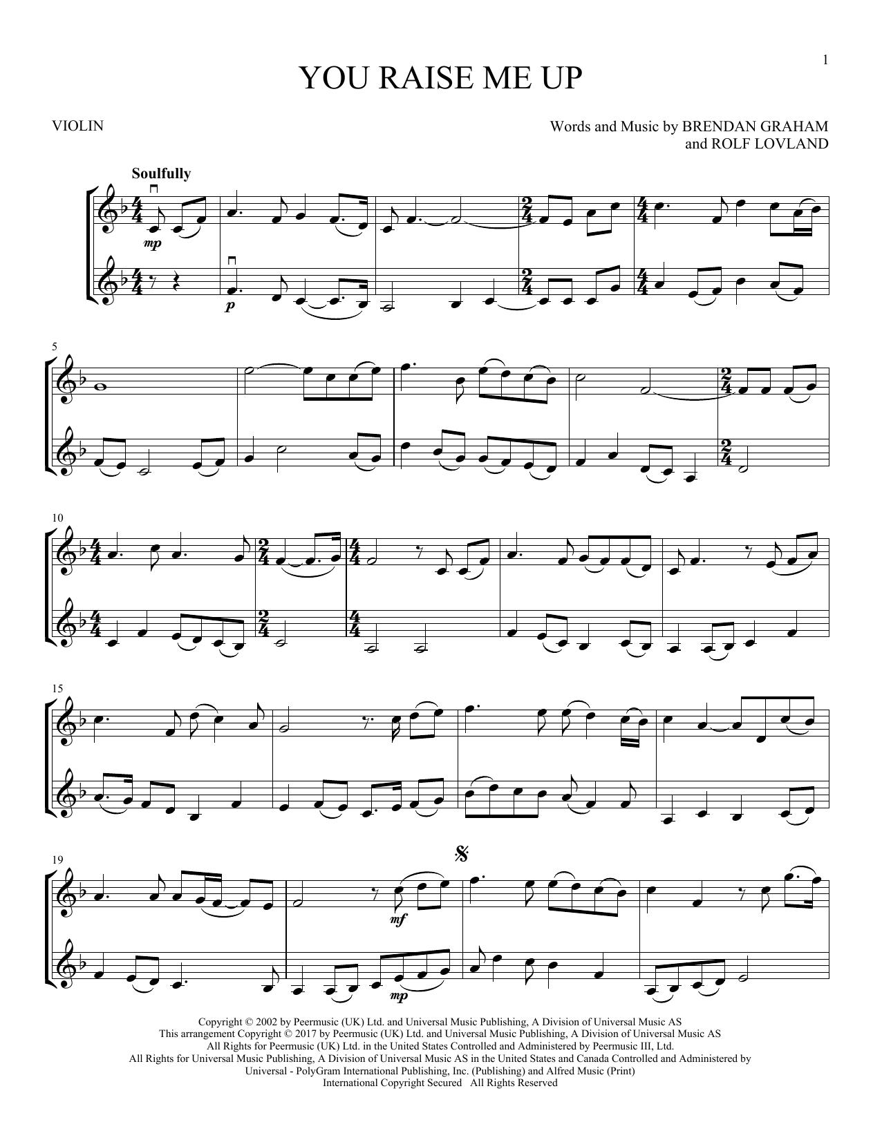 You Raise Me Up (Violin Duet)