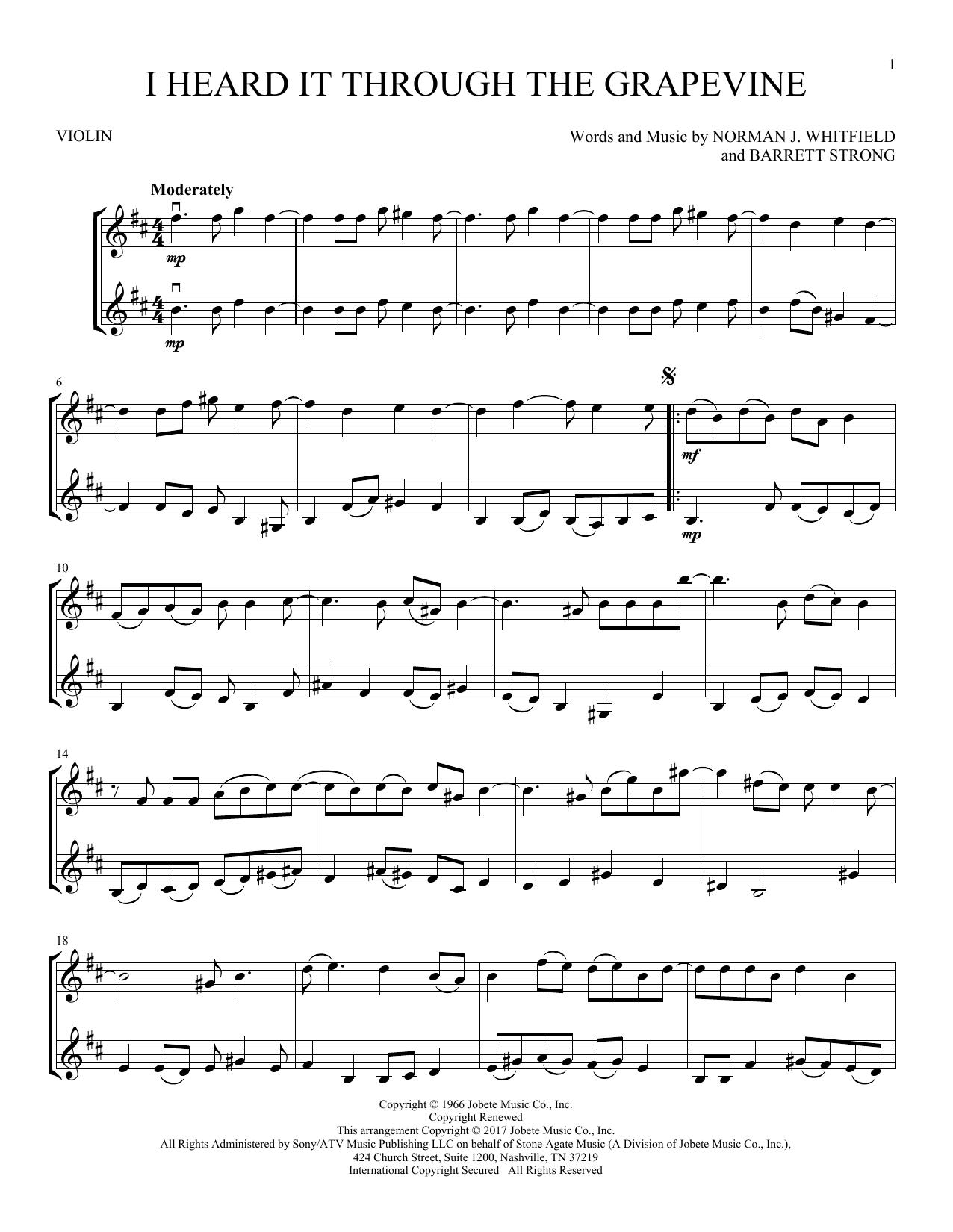 I Heard It Through The Grapevine (Violin Duet)