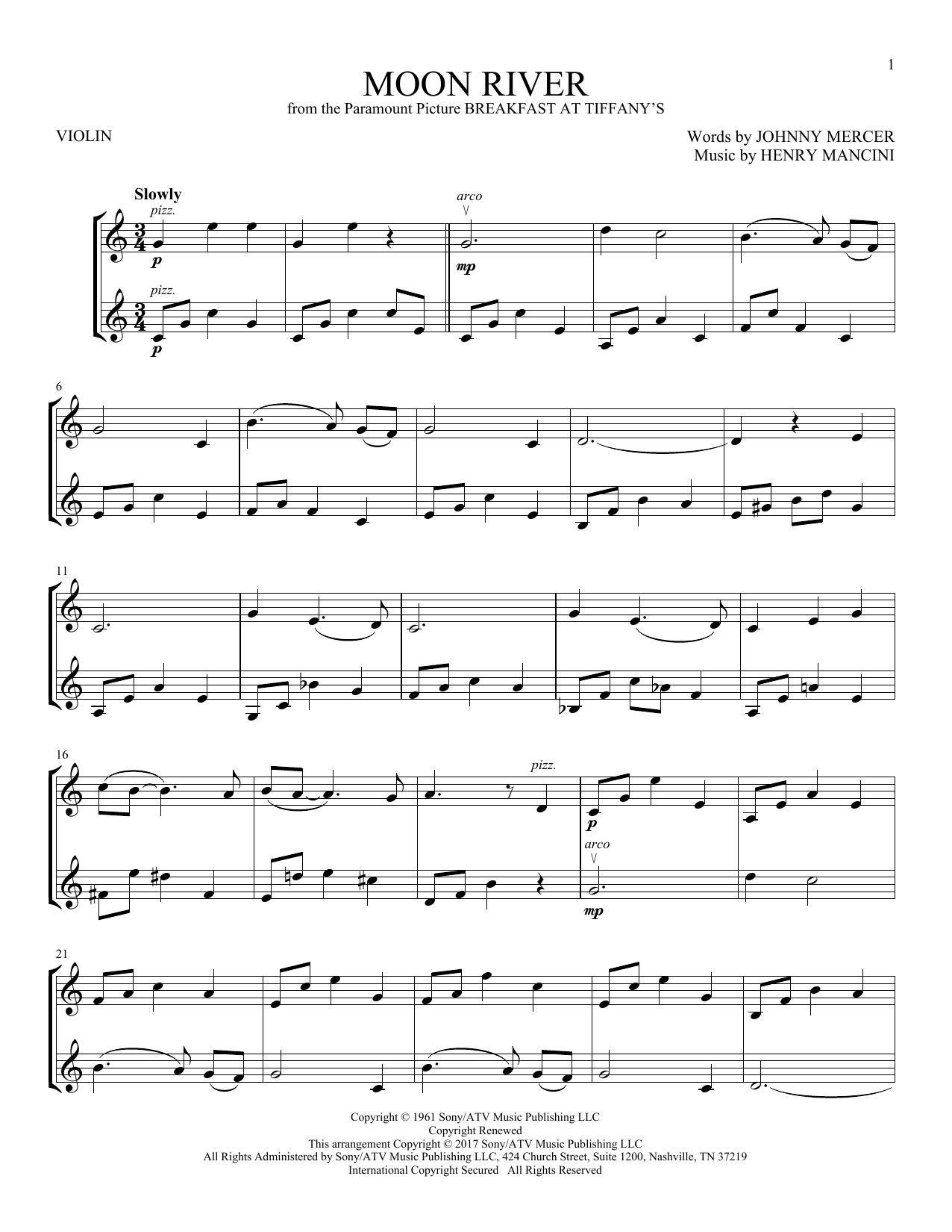 Moon River (Violin Duet)