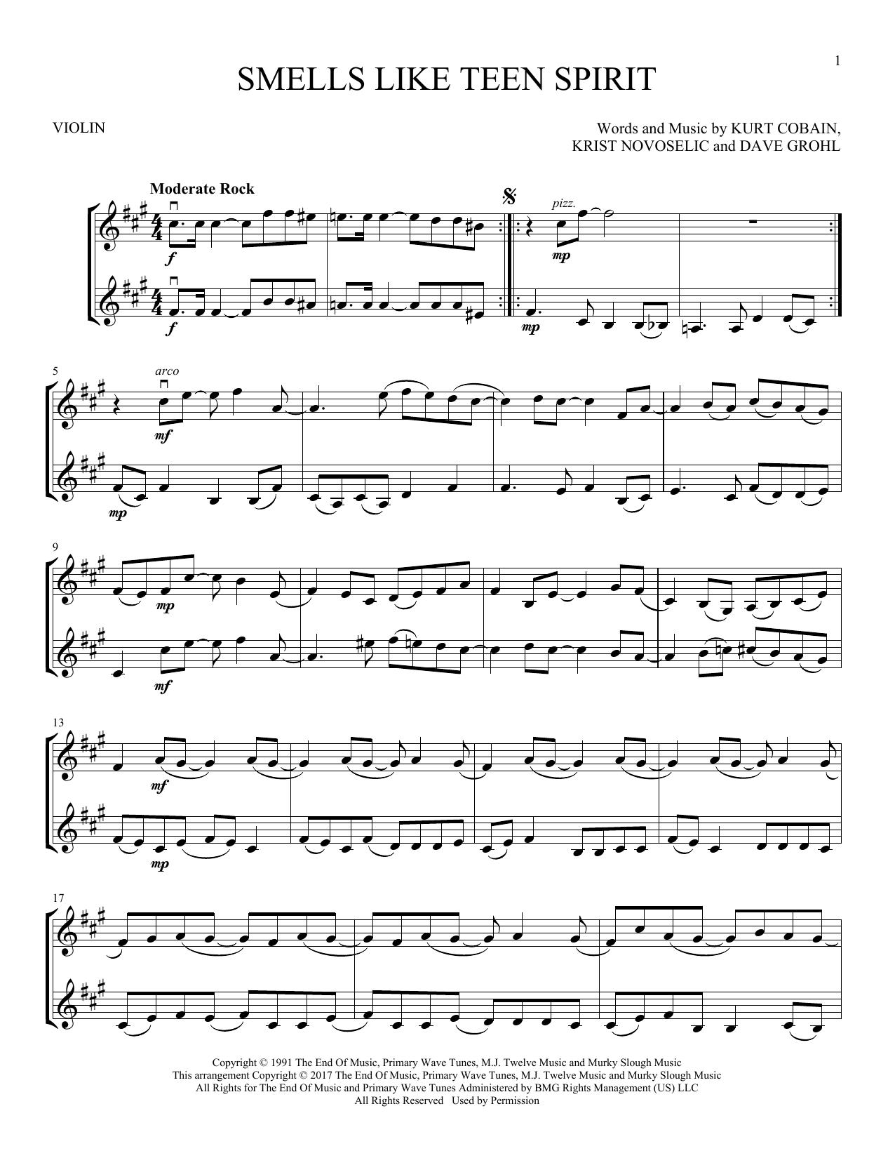 Smells Like Teen Spirit (Violin Duet)