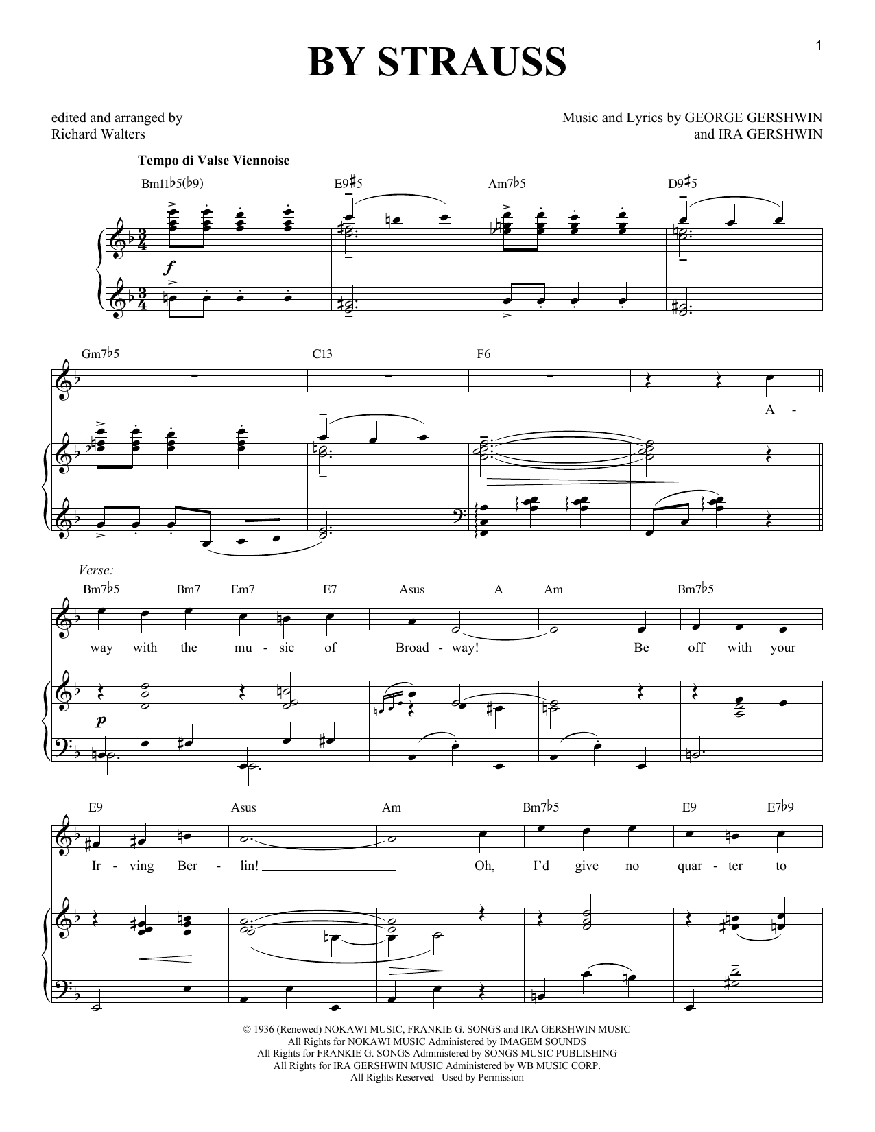 By Strauss (Piano & Vocal)