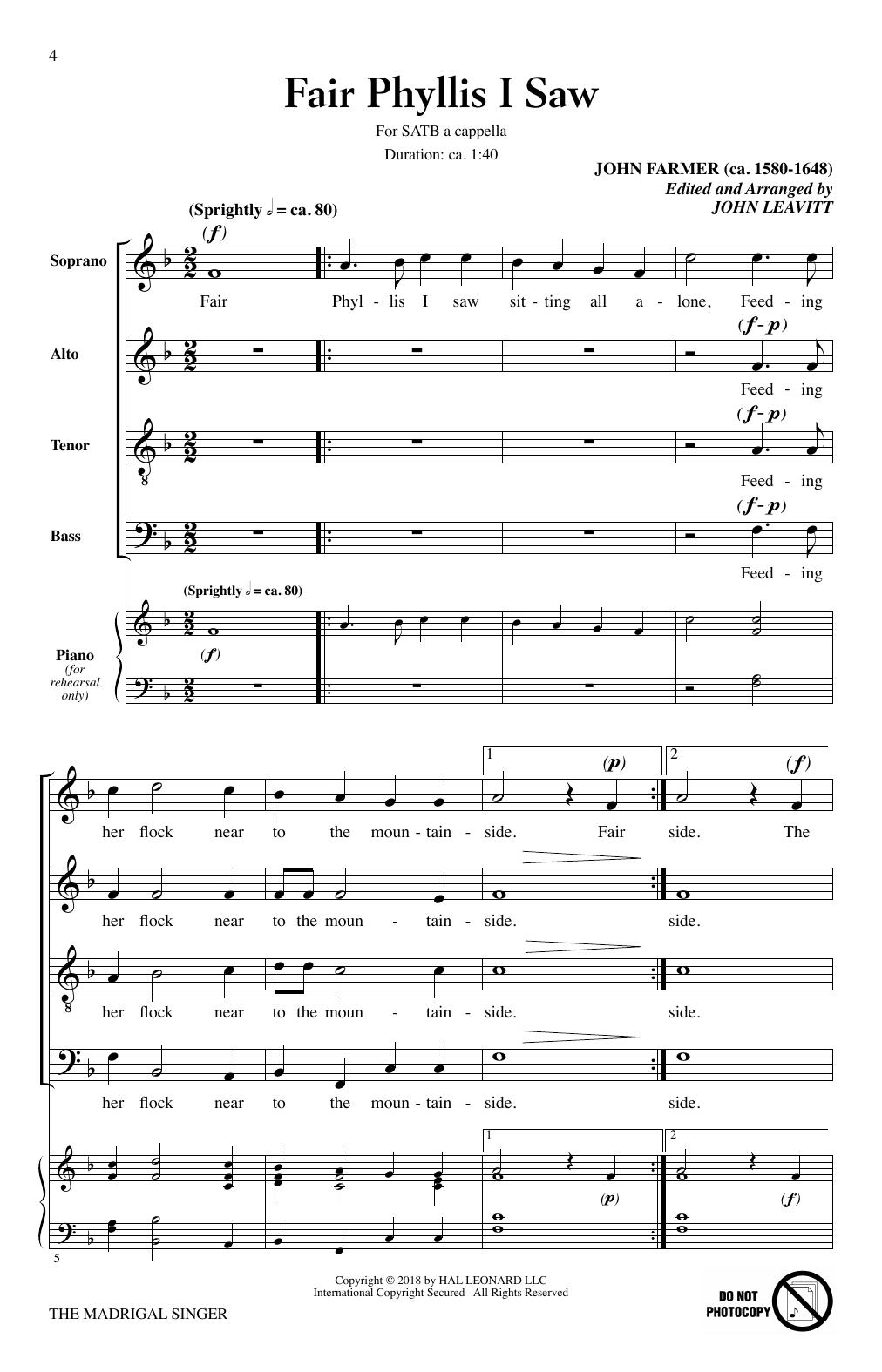 The Madrigal Singer (SATB Choir)