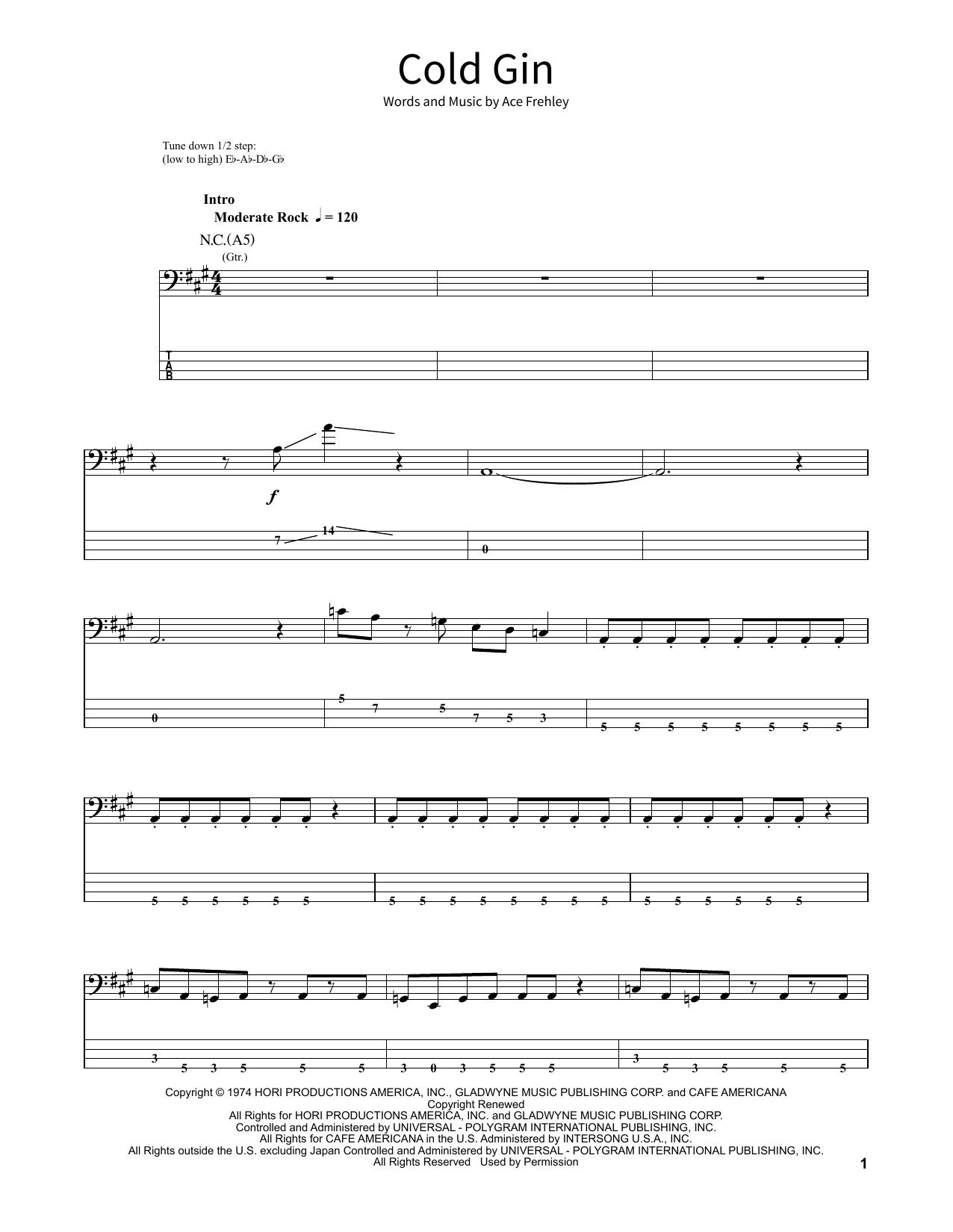 Cold Gin (School of Rock - Bass Guitar)