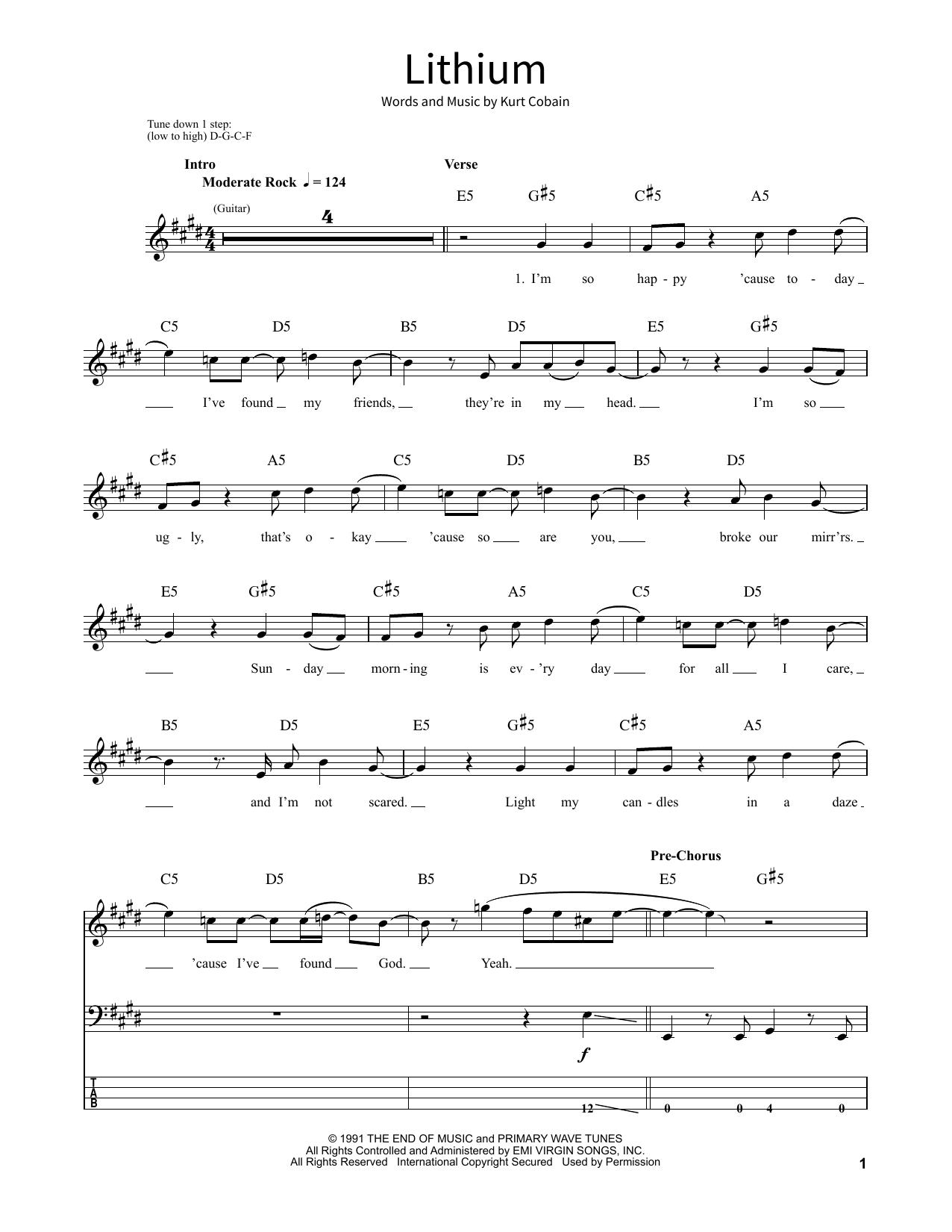 Lithium Sheet Music Direct