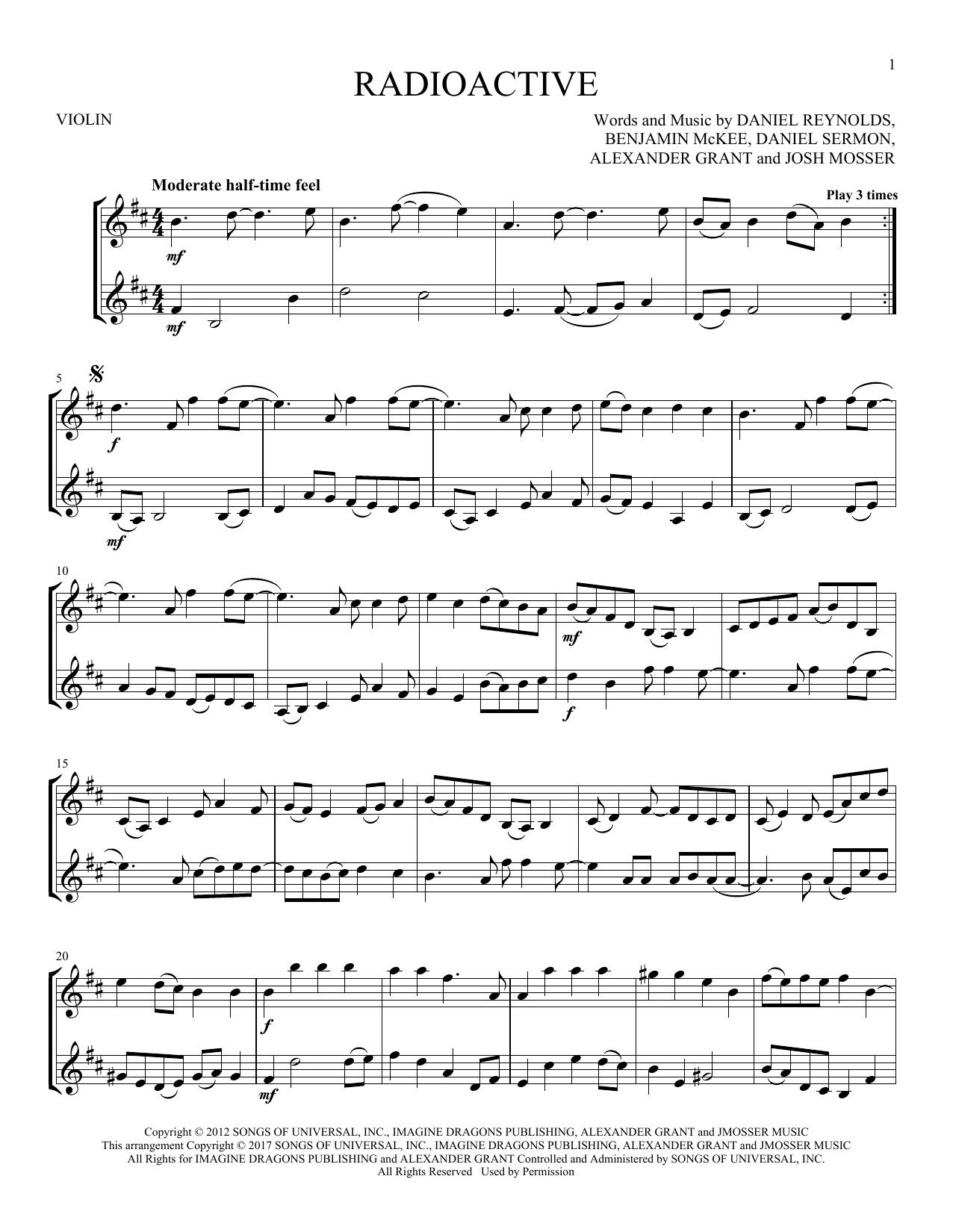 Radioactive (Violin Duet)