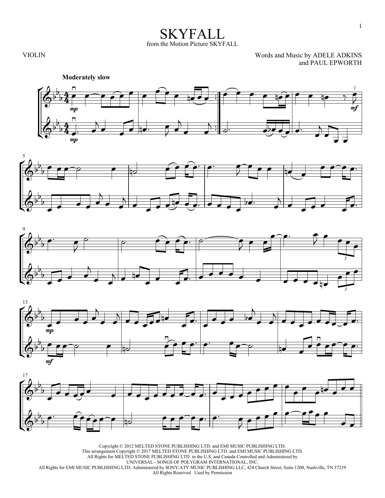 Skyfall (Violin Duet)
