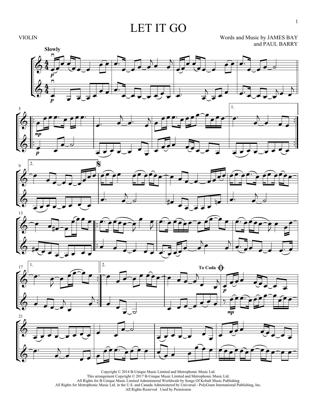 Let It Go (Violin Duet)