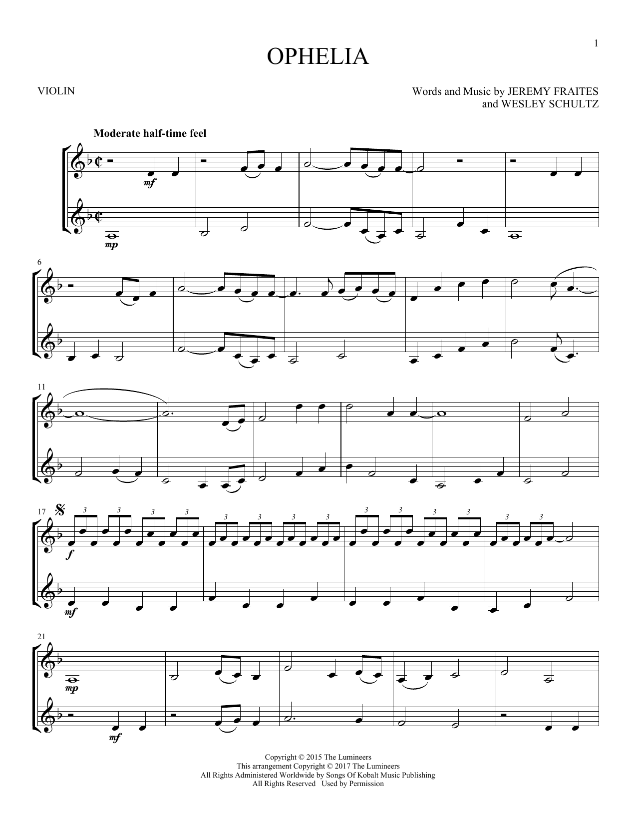 Ophelia (Violin Duet)