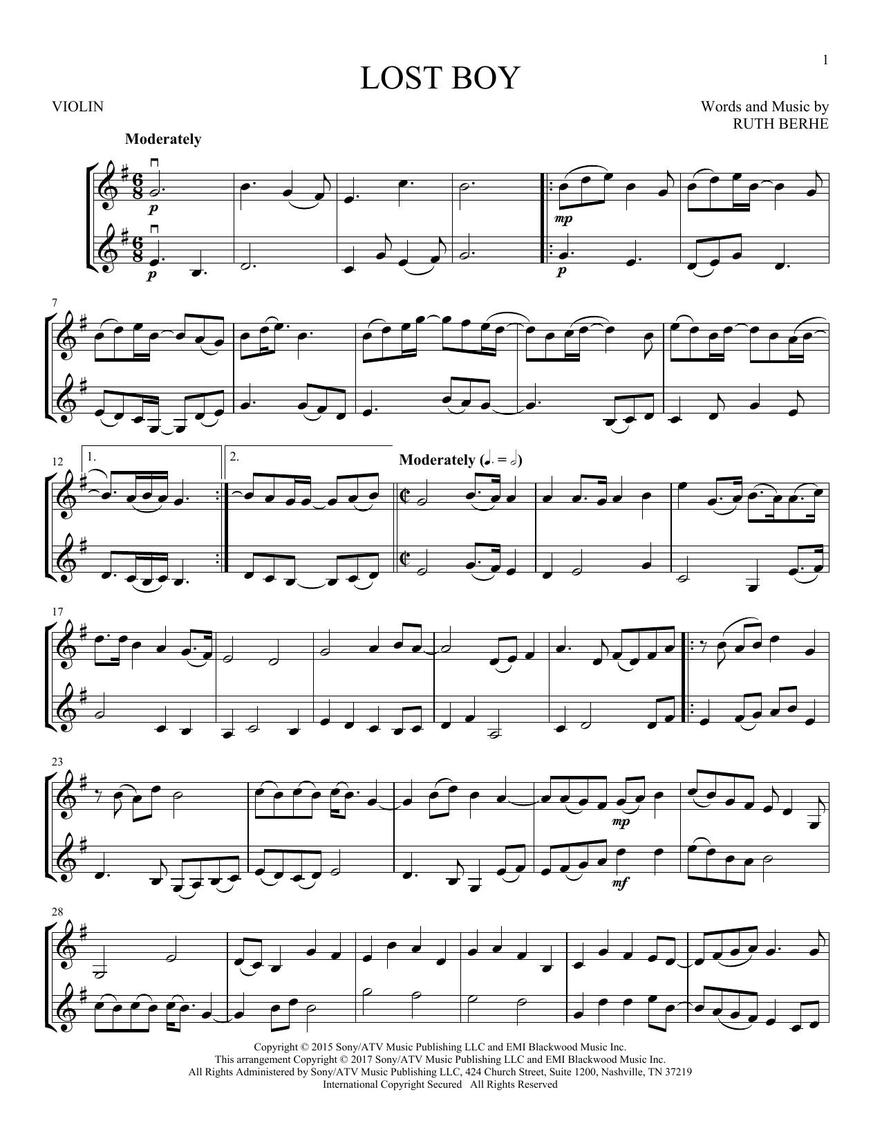 Lost Boy (Violin Duet)