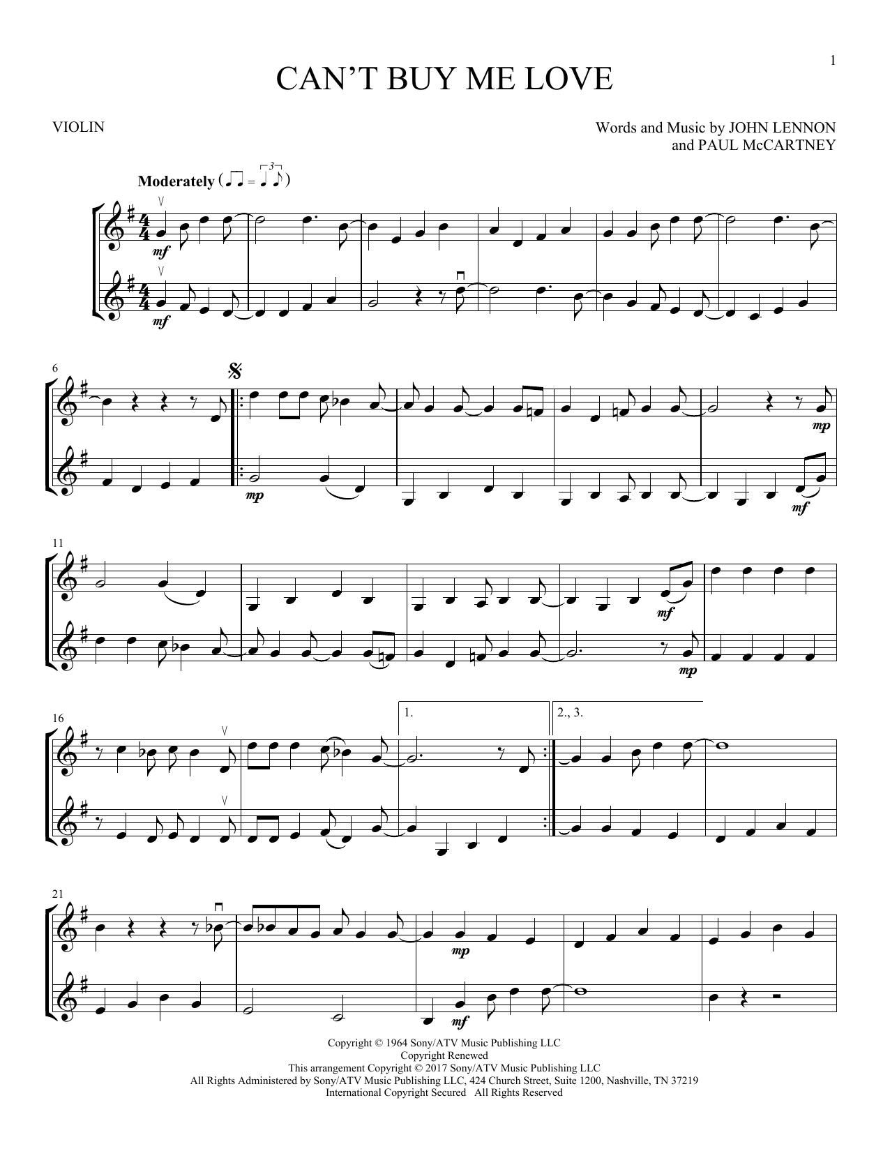Can't Buy Me Love (Violin Duet)