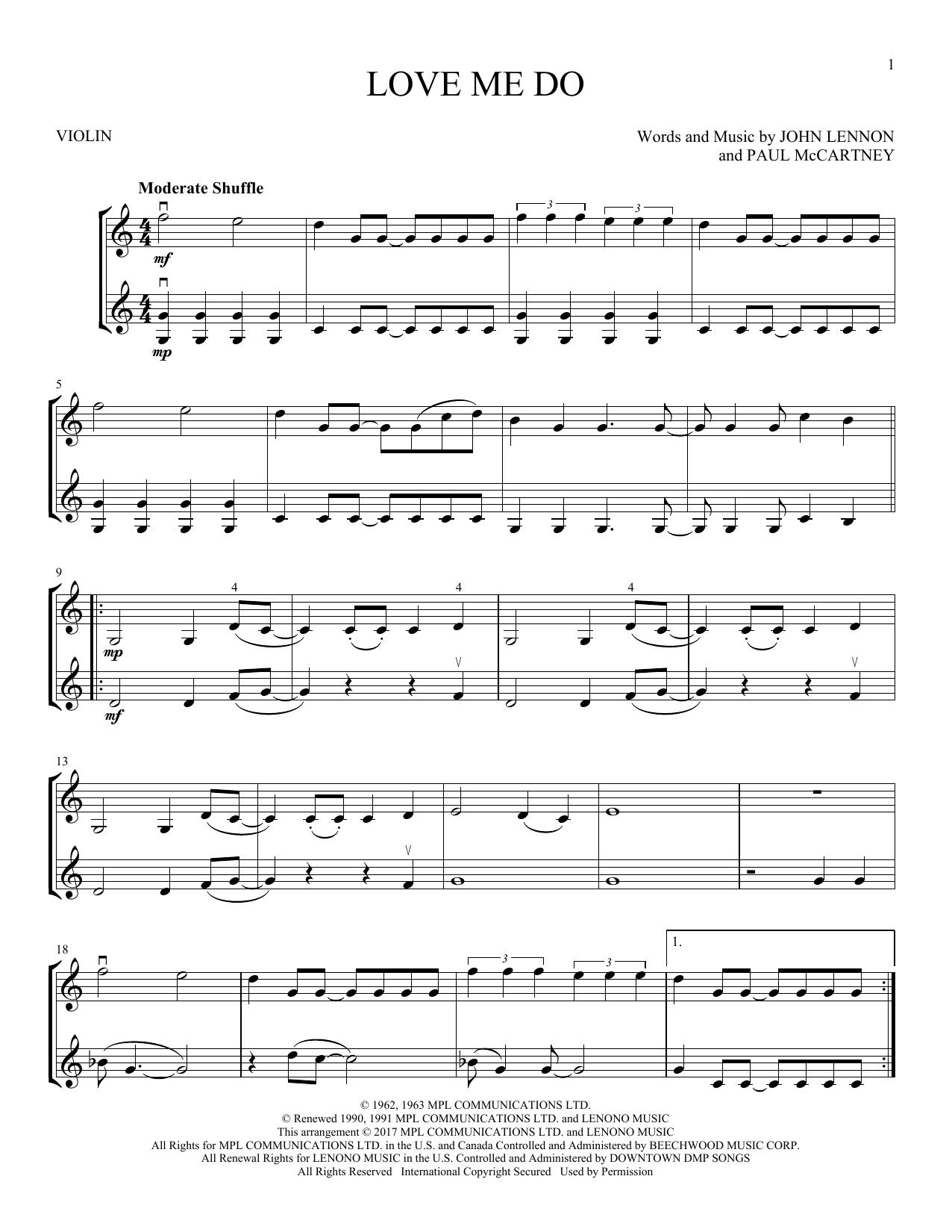 Love Me Do (Violin Duet)