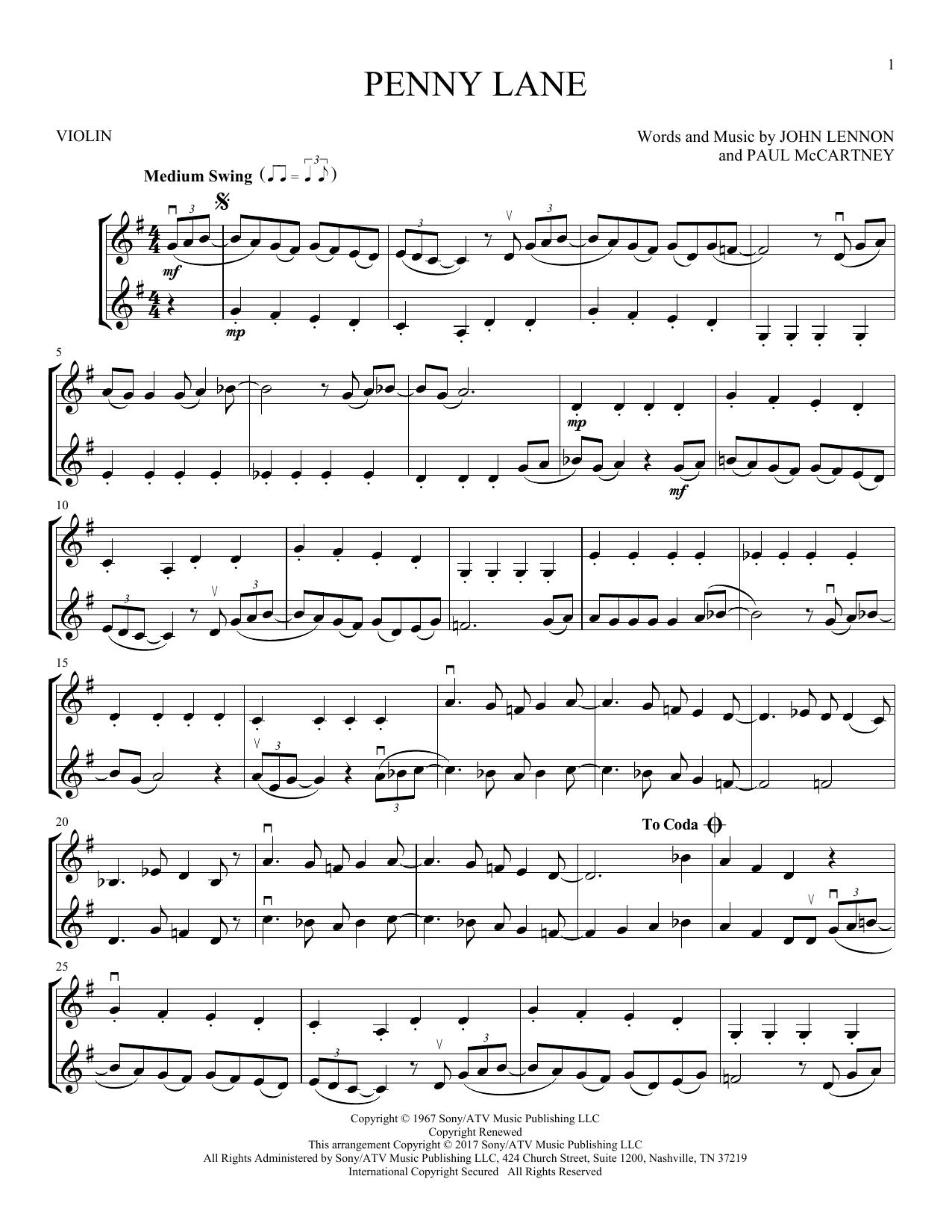 Penny Lane (Violin Duet)