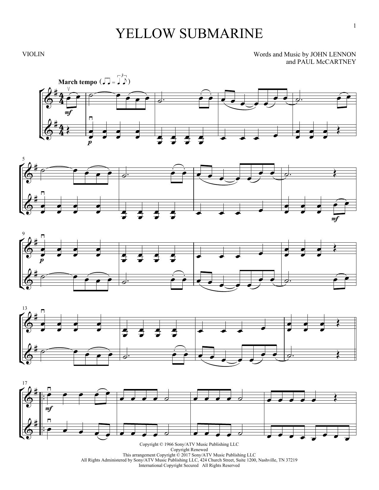 Yellow Submarine (Violin Duet)