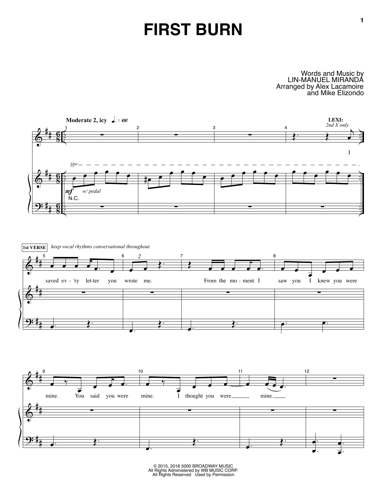 First Burn Sheet Music