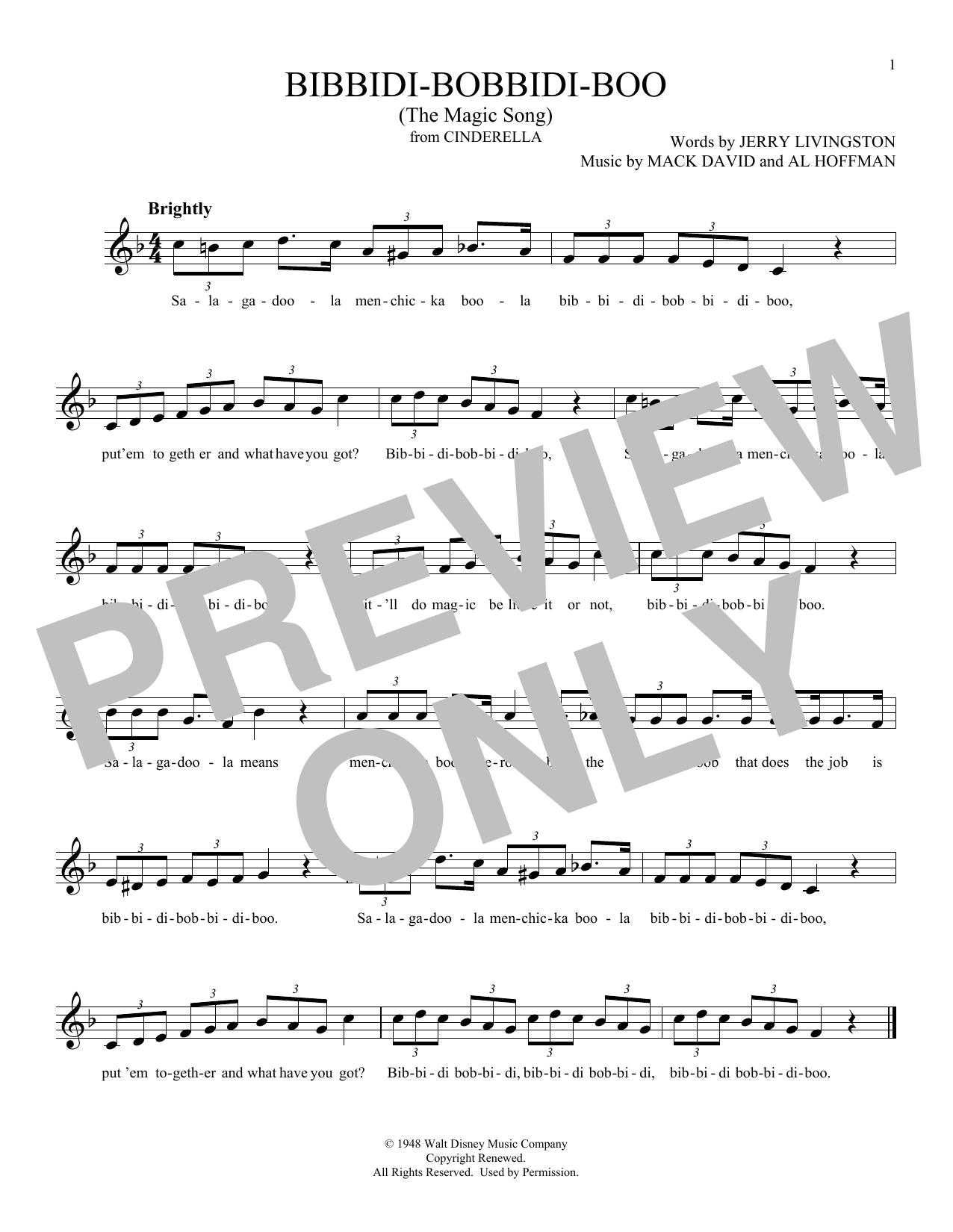 Bibbidi-Bobbidi-Boo (The Magic Song) (from Cinderella) (Ocarina)