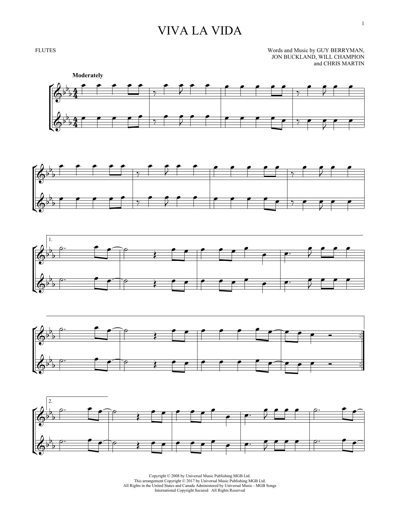 Viva La Vida (Flute Duet)