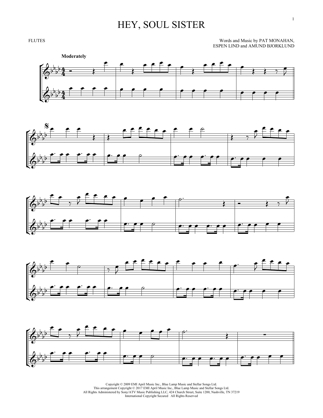 Hey, Soul Sister (Flute Duet)