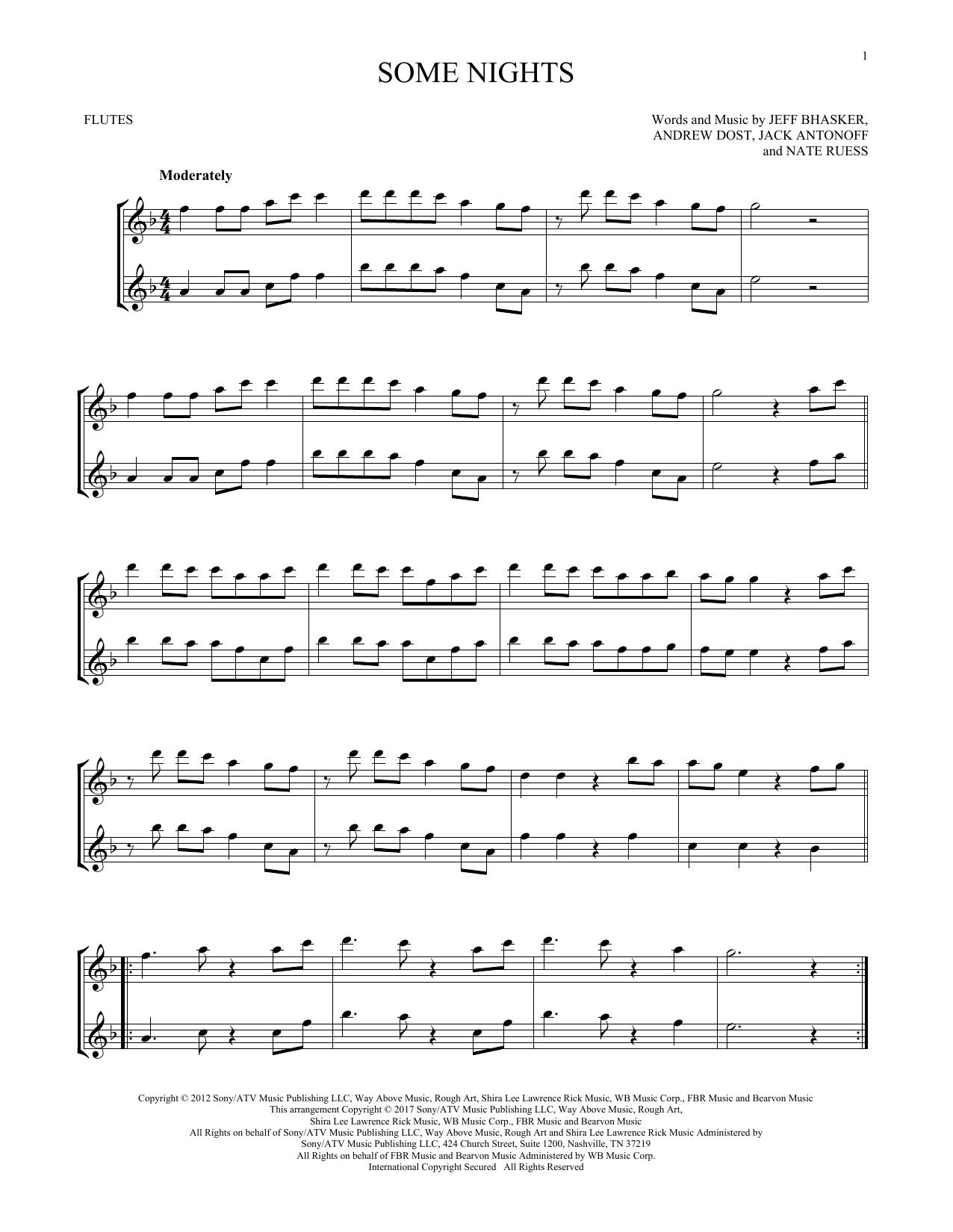 Some Nights (Flute Duet)