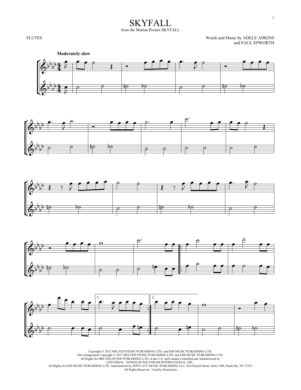 Skyfall (Flute Duet)