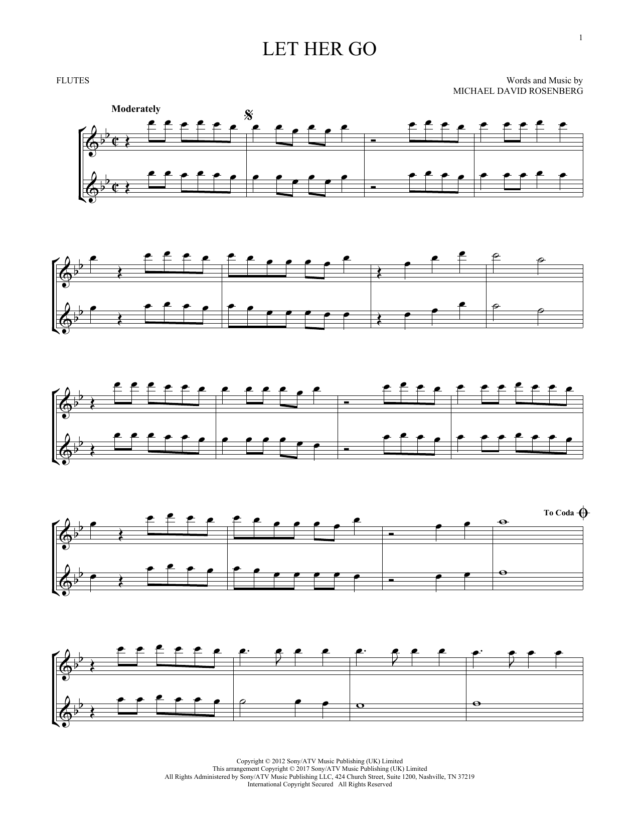 Let Her Go (Flute Duet)
