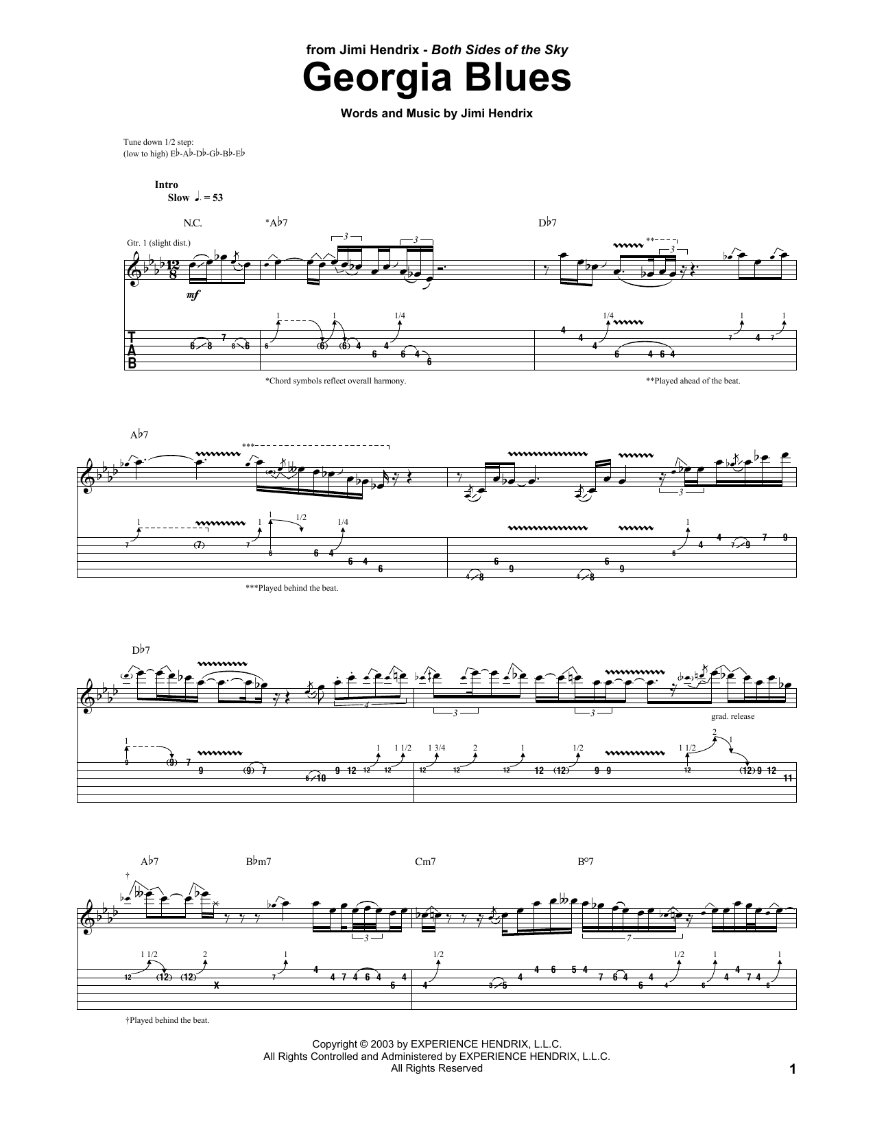 Georgia Blues Sheet Music