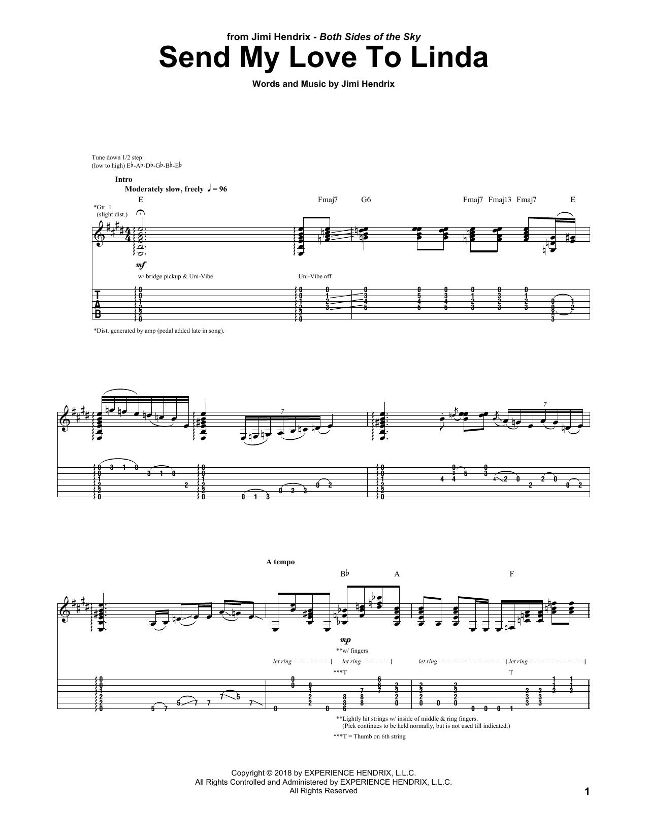Send My Love To Linda (Guitar Tab)