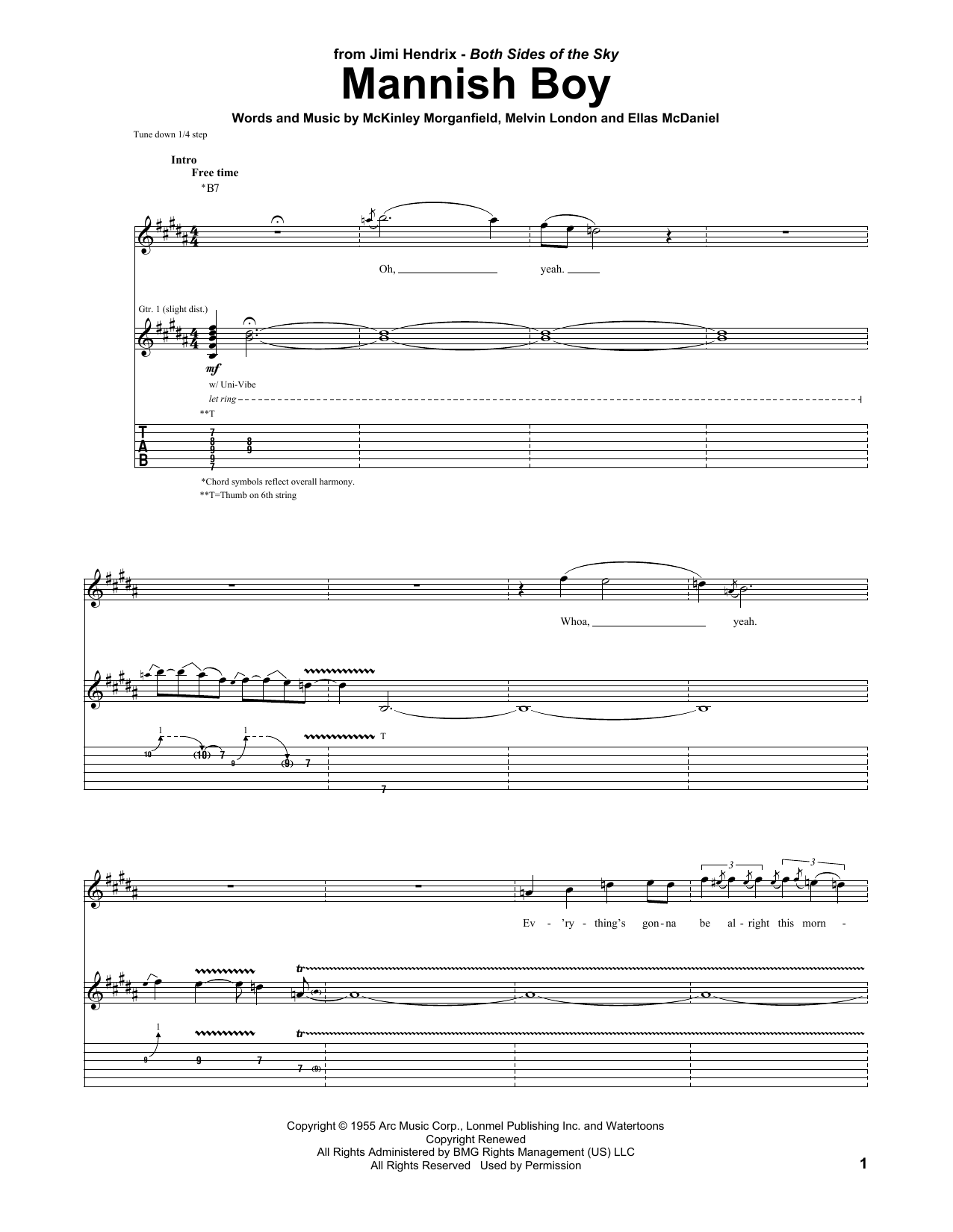 Mannish Boy (Guitar Tab)