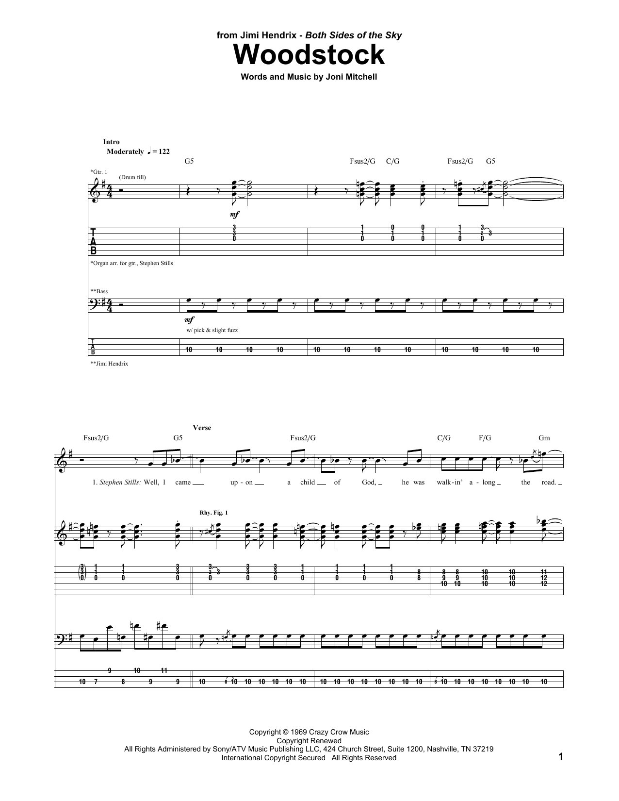 Woodstock (Guitar Tab)