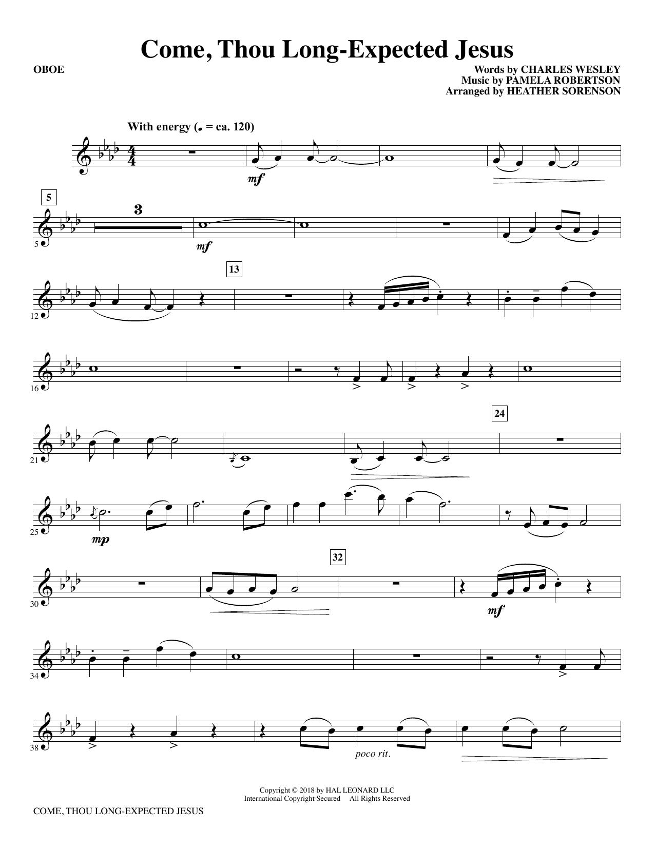 Come, Thou Long-Expected Jesus (arr. Heather Sorenson) - Oboe (Choir Instrumental Pak)