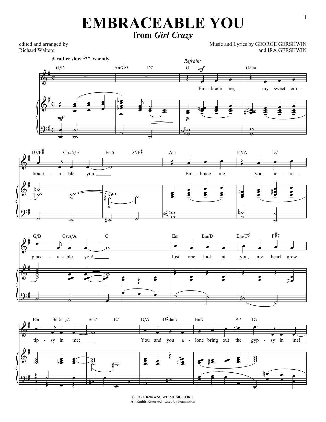 Embraceable You (Piano & Vocal)