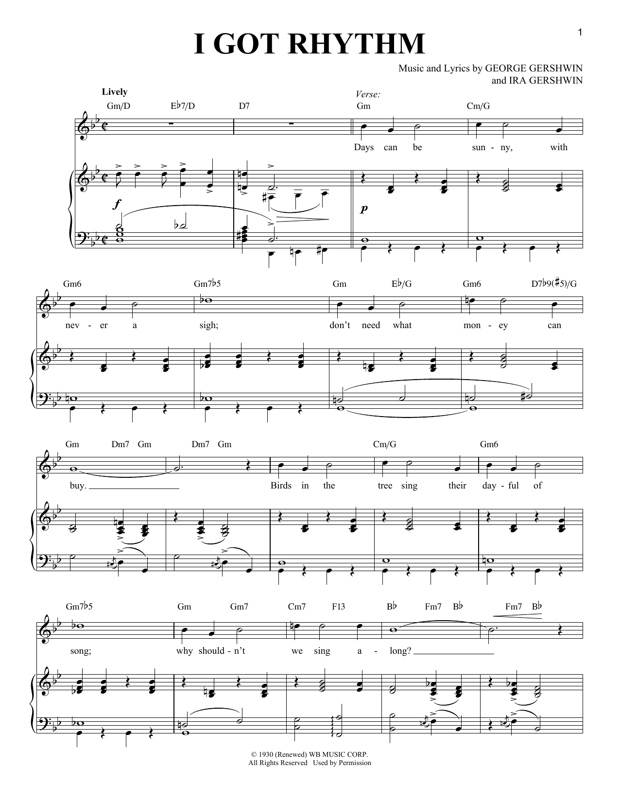 I Got Rhythm (Piano & Vocal)